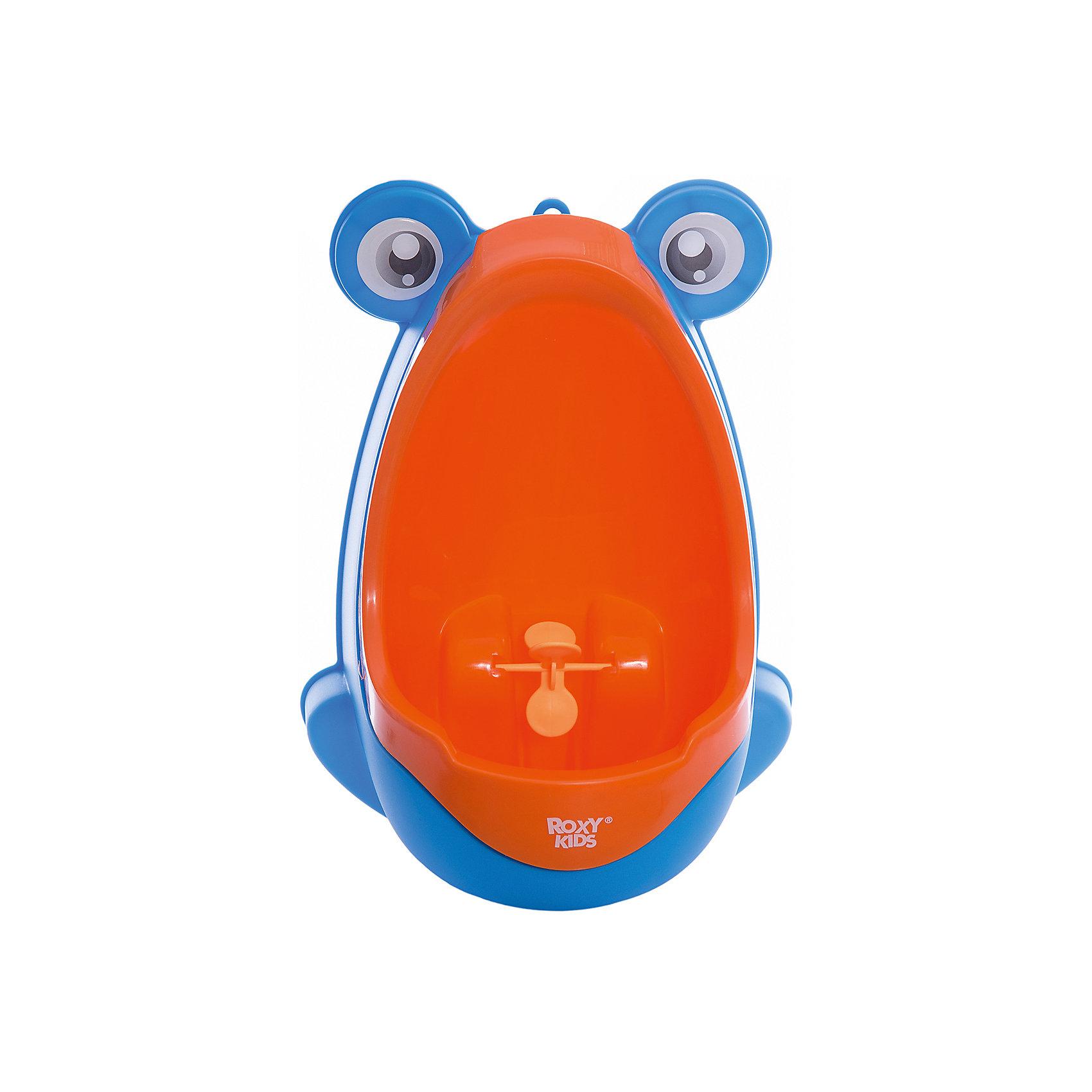 Писсуар с прицелом Лягушка, Roxy-kids, оранжево-голубойГоршки, сиденья для унитаза, стульчики-подставки<br>Писсуар с прицелом, Roxy-kids (Рокси-кидс) поможет вашему малышу легко и быстро приучиться ходить во взрослый туалет. Яркий оригинальный писсуар в форме лягушонка обязательно понравится ребенку и в игровой форме поможет малышу овладеть необходимыми гигиеническими навыками. Изделие выполнено из прочного пластика, может крепиться на стену с помощью присосок, расположенных на задней стенке. <br><br>Дополнительная информация:<br><br>- Размер: 15х21х30 см.<br>- Материал: пластик.<br>- Цвет: оранжево-голубой<br><br>Писсуар с прицелом Лягушка, Roxy-kids (Рокси-кидс), бежево-коричневый, можно купить в нашем магазине.<br><br>Ширина мм: 220<br>Глубина мм: 220<br>Высота мм: 360<br>Вес г: 500<br>Возраст от месяцев: 12<br>Возраст до месяцев: 36<br>Пол: Унисекс<br>Возраст: Детский<br>SKU: 6895386