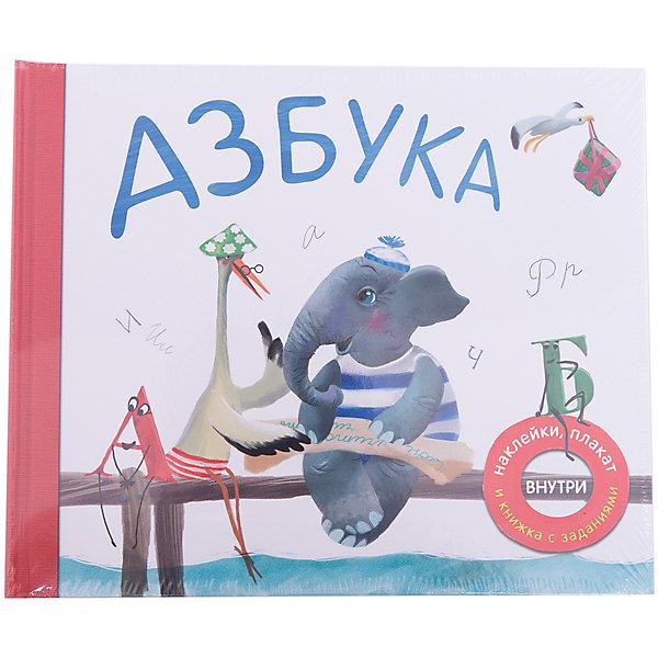 Азбука в стихахАзбуки<br>Характеристики товара:<br><br>• возраст: от 3 лет<br>• авторы идеи: В. Вилюнова, Н. Магай<br>• автор стихов: П. Михайлов<br>• художник: Чайка Лариса Э.<br>• издательство: Мозаика-Синтез, 2016 г.<br>• переплет: полужесткий<br>• оформление: наклейки стикеры, плакат, книжка с заданиями<br>• иллюстрации: цветные<br>• количество страниц: 66<br>• размер: 26,5х22х1,4 см.<br>• вес: 587 гр.<br>• ISBN: 9785431507830<br><br>Эта необычная книга станет отличным подарком для каждого ребенка. Путешествуя по страницам книги вместе со слоником и его веселыми друзьями, ребенок легко выучит все буквы алфавита.<br><br>Каждой букве посвящен отдельный разворот книги. Ребенку будет просто запомнить новую букву благодаря замечательному стихотворению и красочной картинке, которую так интересно рассматривать.<br><br>Стихи в книге необычные, слова в них подобраны таким образом, чтобы новая буква в них повторялась как можно чаще – так ее легче выучить.<br><br>На внутренней стороне обложки ребенка ждет сюрприз – в специальных кармашках он найдет большой плакат с алфавитом и яркими наклейками, и книжку с увлекательными заданиями, которые помогут закрепить полученные знания.<br><br>Книгу «Азбука в стихах» можно купить в нашем интернет-магазине.<br>Ширина мм: 14; Глубина мм: 265; Высота мм: 220; Вес г: 587; Возраст от месяцев: 36; Возраст до месяцев: 84; Пол: Унисекс; Возраст: Детский; SKU: 6896503;
