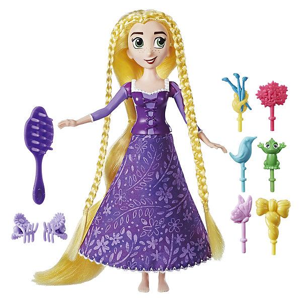 Кукла Hasbro Disney Princess, Рапунцель. Запутанная история, Рапунцель с модной прическойКуклы<br>В сериале Рапунцель:Запутанная история золотые локоны Рапунцель живут своей отдельной жизнью. Эта кукла создана по образу героини мультфильма и ее волосы сами закручиваются в прически. Сожми платье Рапунцель и ее супер длинные волосы закрутятсяв прическу сами, пока Рапунцель вращается. В комплект входит 6 заколочек для волос и 2 аксессуара.<br>Ширина мм: 283; Глубина мм: 218; Высота мм: 63; Вес г: 253; Возраст от месяцев: 60; Возраст до месяцев: 120; Пол: Женский; Возраст: Детский; SKU: 6898120;