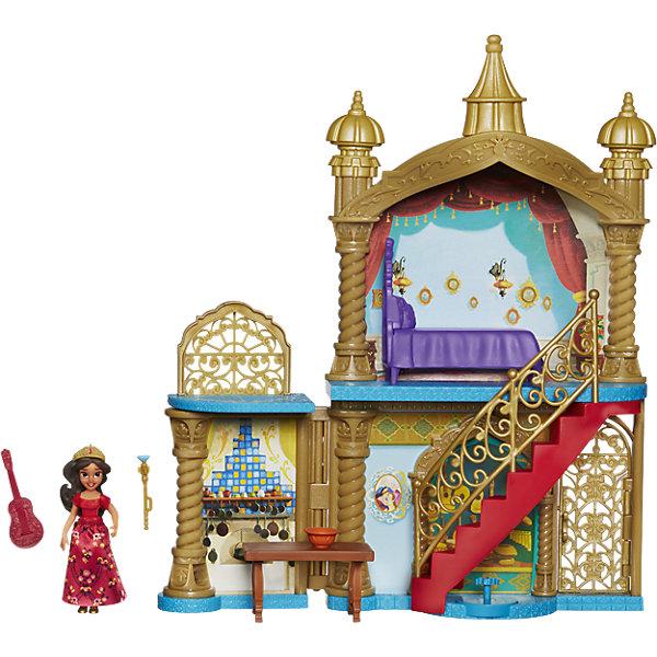 Игровой набор замок маленькие куклы Елена – принцесса АвалораКуклы<br>Характеристики товара:<br><br>• возраст: от 4 лет;<br>• материал: пластик, текстиль;<br>• в комплекте: кукла, замок, мебель, аксессуары;<br>• размер упаковки: 30,5х30,5х7,6 см;<br>• вес упаковки: 448 гр.;<br>• страна производитель: Китай.<br><br>Игровой набор «Замок Елена принцесса Авалора» Hasbro создан по мотивам известного мультсериала Дисней «Елена принцесса Авалора». В набор входят сама героиня Елена и роскошный двухэтажный замок. На первом этаже Елена может встречать гостей, приготовить им вкусные блюда на кухне или поиграть на гитаре, а на втором расположилась ее спальня. На второй этаж ведет лестница с узорными перилами. <br><br>Игровой набор «Замок Елена принцесса Авалора» Hasbro можно приобрести в нашем интернет-магазине.<br>Ширина мм: 313; Глубина мм: 314; Высота мм: 81; Вес г: 569; Возраст от месяцев: 48; Возраст до месяцев: 84; Пол: Женский; Возраст: Детский; SKU: 6898154;