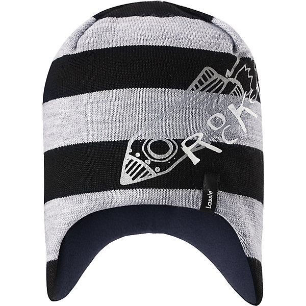 Шапка для мальчика LassieШапки и шарфы<br>Характеристики товара:<br><br>• цвет: серый;<br>• состав: 50% шерсть, 50% полиакрил;<br>• подкладка: 100% полиэстер, флис;<br>• без утеплителя;<br>• сезон: демисезон;<br>• температурный режим: от +10 до -10С;<br>• особенности: шерстяная, с надписью;<br>• мягкая и теплая ткань из смеси шерсти;<br>• ветронепроницаемые вставки в области ушей; <br>• сплошная подкладка: мягкий теплый флис;<br>• светоотражающие детали; <br>• страна бренда: Финляндия;<br>• страна изготовитель: Китай;<br><br>ЭЭта модная шапка для мальчиков – великолепное дополнение к детскому зимнему гардеробу. Шапка связана из теплой полушерсти, подбита быстросохнущей и мягкой флисовой подкладкой и снабжена ветронепроницаемыми вставками в области ушей, которые защищают ушки от холодного ветра. Светоотражающая эмблема Lassie® спереди.<br><br>Шапку Lassie (Ласси) можно купить в нашем интернет-магазине.<br>Ширина мм: 89; Глубина мм: 117; Высота мм: 44; Вес г: 155; Цвет: черный; Возраст от месяцев: 12; Возраст до месяцев: 24; Пол: Мужской; Возраст: Детский; Размер: 46-48,54-56,50-52; SKU: 6900965;