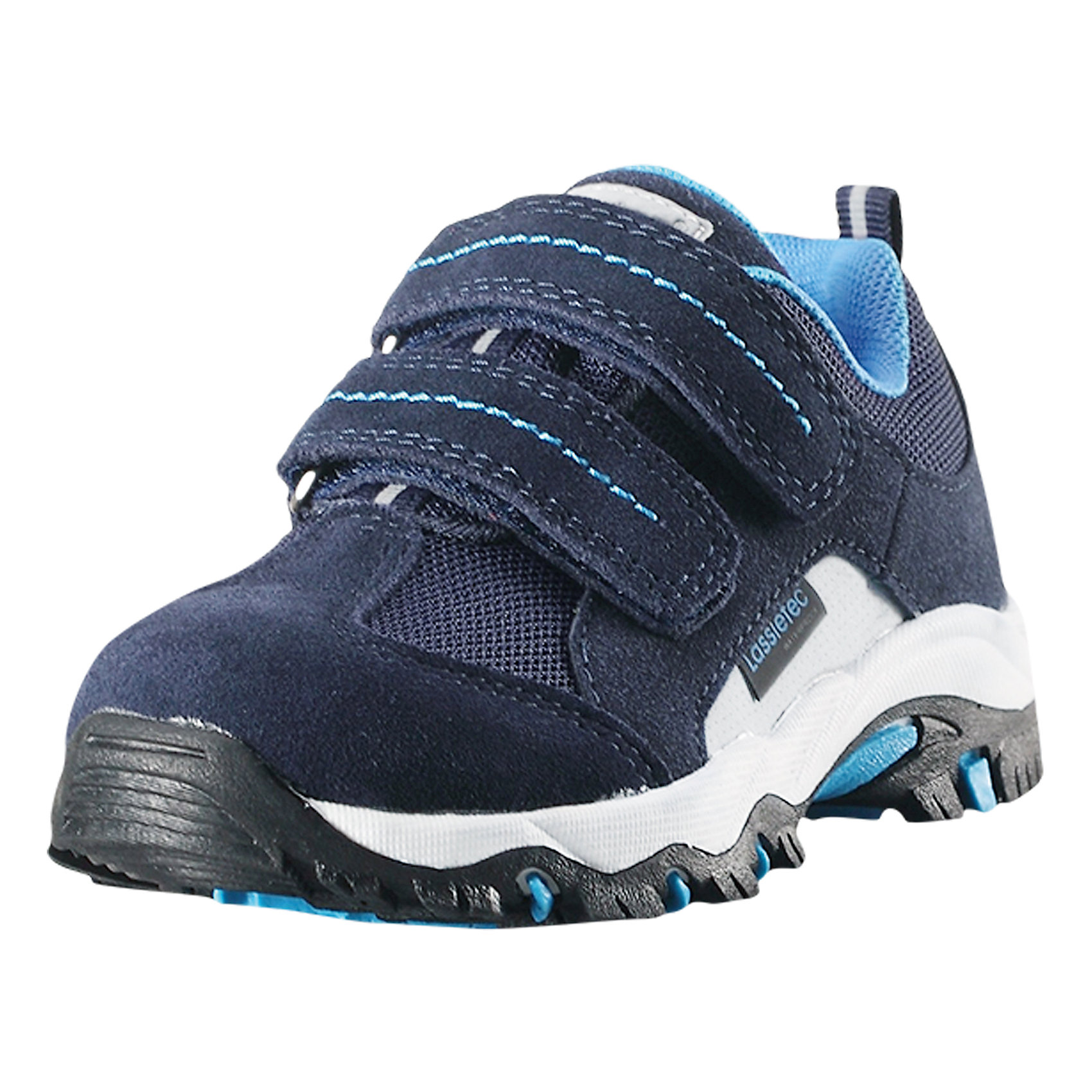 Кроссовки Nemina Lassietec LassieОбувь<br>Детские непромокаемые демисезонные ботинки. Эти легкие и дышащие ботинки для малышей очень практичны, ведь их можно носить с весны и до осени во дворе, в городе или даже в походе. Подошва из термопластичной резины нигде не будет скользить. Снабжены съемными стельками, мягкой текстильной подкладкой и светоотражающими элементами. Благодаря двум удобным ремешкам на липучке, малыши смогут надеть эти ботинки сами и за минуту будут готовы к прогулке.<br>Состав:<br>Подошва: Термопластичная резина Верх: Полиэстер/Полиуретан/Кожа<br><br>Ширина мм: 250<br>Глубина мм: 150<br>Высота мм: 150<br>Вес г: 250<br>Цвет: синий<br>Возраст от месяцев: 96<br>Возраст до месяцев: 108<br>Пол: Унисекс<br>Возраст: Детский<br>Размер: 35,22,23,24,25,26,27,28,29,30,31,32,33,34<br>SKU: 6901000