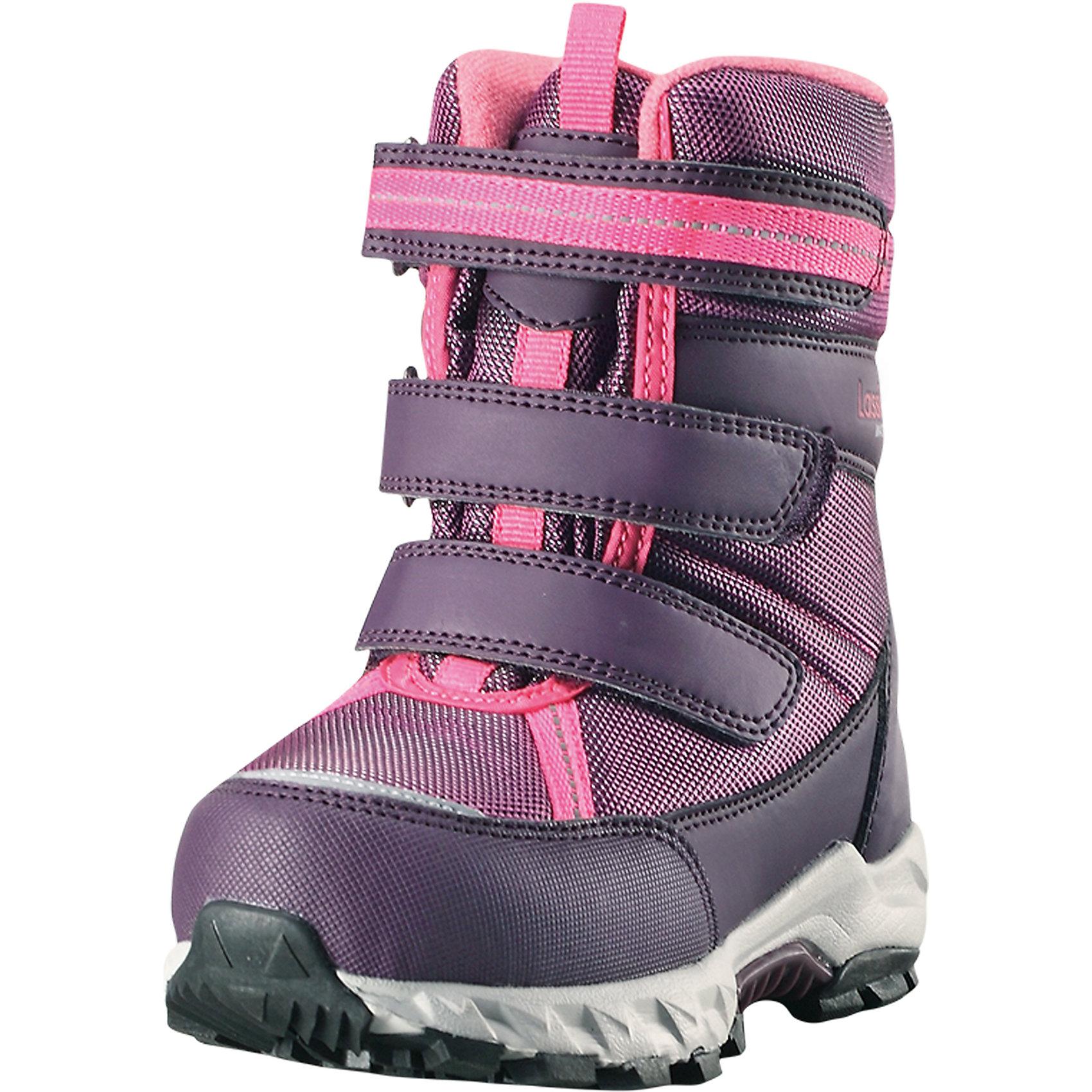 Сапоги Boulder Lassietec LassieОбувь<br>Характеристики товара:<br><br>• цвет: розовый;<br>• внешний материал: полиэстер, полиуретан, текстиль;<br>• внутренний материал: искусственный мех;<br>• стелька: искусственный мех;<br>• подошва: термопластиная резина;<br>• сезон: зима;<br>• температурный режим: от 0 до -30С;<br>• застежка: три ремешка на липучках;<br>• водонепроницаемая зимняя обувь; <br>• гибкая легкая подошва из филона/резины;<br>• подкладка из искусственного меха;<br>• съемные стельки; <br>• светоотражающие детали;<br>• страна бренда: Финляндия;<br>• страна изготовитель: Китай;<br><br>Пара отличных зимних ботинок – вот без чего просто не обойтись в холодное время года! Эти стильные водонепроницаемые детские зимние ботинки изготовлены из текстиля и синтетического материала, прочного и простого в уходе. Благодаря мягкой подкладке из искусственного меха во время прогулок на свежем воздухе ножкам будет тепло и сухо. Регулируемая застежка на липучке облегчает обувание и обеспечивает хорошую фиксацию на ноге. Светоотражающие детали.<br><br>Сапоги Boulder Lassietec Lassie (Ласси) можно купить в нашем интернет-магазине.<br><br>Ширина мм: 257<br>Глубина мм: 180<br>Высота мм: 130<br>Вес г: 420<br>Цвет: розовый<br>Возраст от месяцев: 12<br>Возраст до месяцев: 18<br>Пол: Женский<br>Возраст: Детский<br>Размер: 22,35,34,33,32,31,30,29,28,27,26,25,24,23<br>SKU: 6901015
