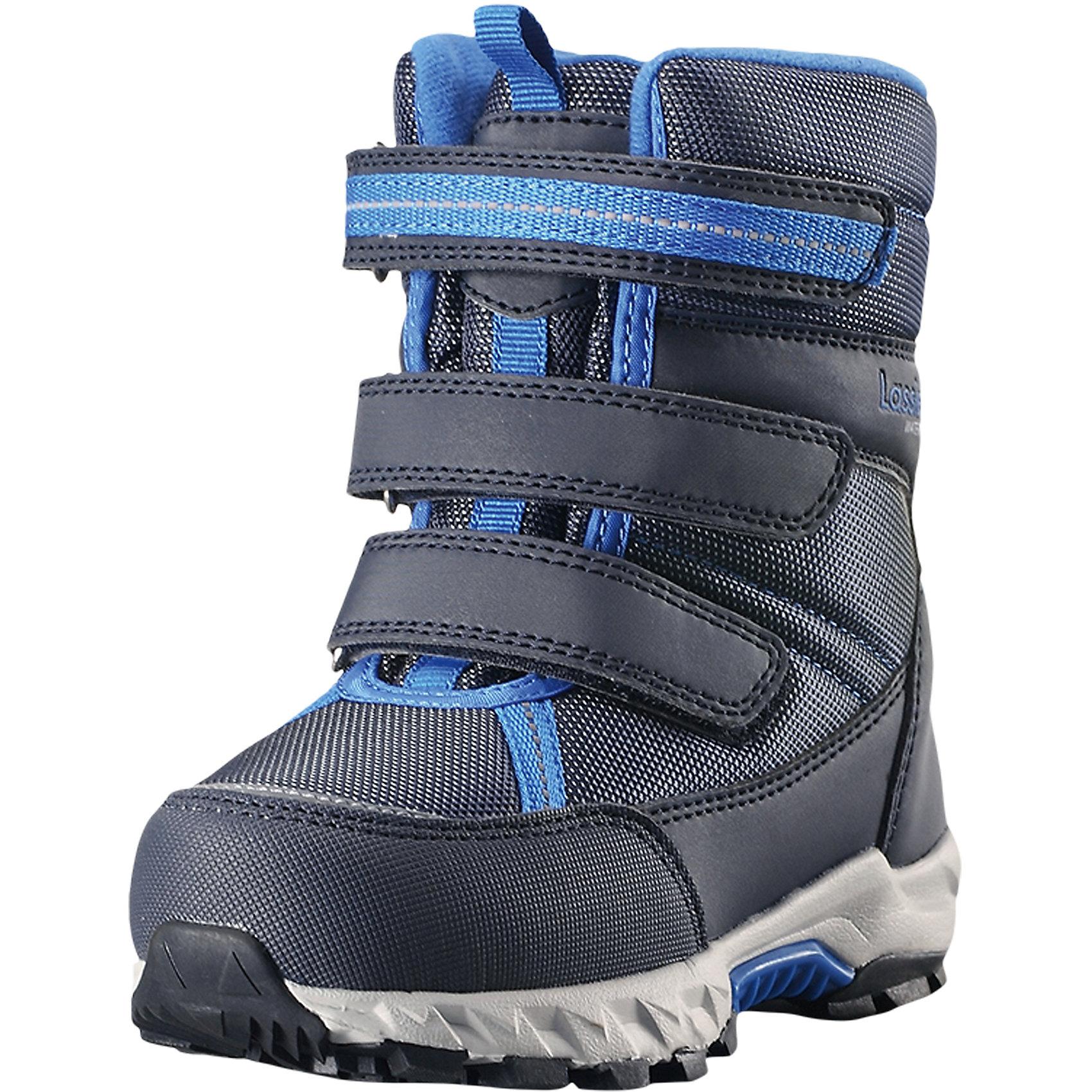 Сапоги Boulder Lassietec LassieОбувь<br>Характеристики товара:<br><br>• цвет: синий;<br>• внешний материал: полиэстер, полиуретан, текстиль;<br>• внутренний материал: искусственный мех;<br>• стелька: искусственный мех;<br>• подошва: термопластиная резина;<br>• сезон: зима;<br>• температурный режим: от 0 до -30С;<br>• застежка: три ремешка на липучках;<br>• водонепроницаемая зимняя обувь; <br>• гибкая легкая подошва из филона/резины;<br>• подкладка из искусственного меха;<br>• съемные стельки; <br>• светоотражающие детали;<br>• страна бренда: Финляндия;<br>• страна изготовитель: Китай;<br><br>Пара отличных зимних ботинок – вот без чего просто не обойтись в холодное время года! Эти стильные водонепроницаемые детские зимние ботинки изготовлены из текстиля и синтетического материала, прочного и простого в уходе. Благодаря мягкой подкладке из искусственного меха во время прогулок на свежем воздухе ножкам будет тепло и сухо. Регулируемая застежка на липучке облегчает обувание и обеспечивает хорошую фиксацию на ноге. Светоотражающие детали.<br><br>Сапоги Boulder Lassietec Lassie (Ласси) можно купить в нашем интернет-магазине.<br><br>Ширина мм: 257<br>Глубина мм: 180<br>Высота мм: 130<br>Вес г: 420<br>Цвет: синий<br>Возраст от месяцев: 96<br>Возраст до месяцев: 108<br>Пол: Унисекс<br>Возраст: Детский<br>Размер: 35,31,22,23,24,25,26,27,28,29,30,34,32,33<br>SKU: 6901030