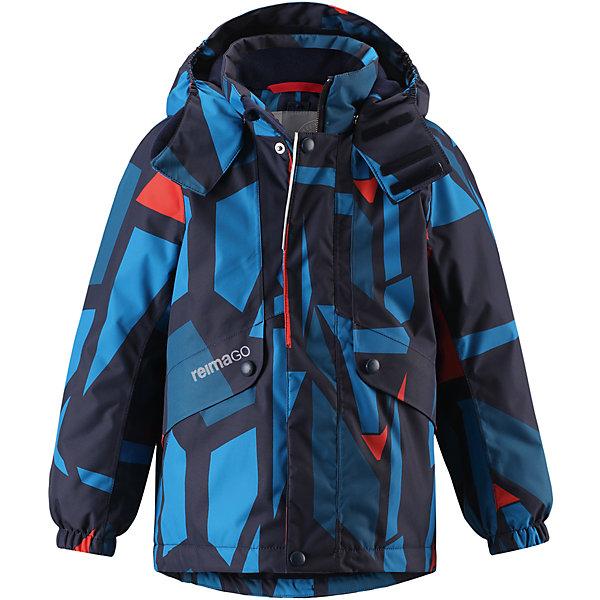 Куртка Elo Reimatec® Reima для мальчикаЗимние куртки<br>Характеристики товара:<br><br>• цвет: синий;<br>• состав: 100% полиэстер;<br>• утеплитель: 160 г/м2;<br>• сезон: зима;<br>• температурный режим: от 0 до -20С;<br>• водонепроницаемость: 15000 мм;<br>• воздухопроницаемость: 7000 мм;<br>• износостойкость: 35000 циклов (тест Мартиндейла);<br>• водо и ветронепроницаемый, дышащий и грязеотталкивающий материал;<br>• все швы проклеены и водонепроницаемы;<br>• безопасный съемный и регулируемый капюшон на кнопках;<br>• застежка: молния с дополнительной планкой на кнопках;<br>• защита подбородка от защемления;<br>• гладкая подкладка из полиэстера;<br>• эластичные манжеты;<br>• регулируемый подол;<br>• внутренний нагрудный карман;<br>• два кармана на молнии;<br>• карман с креплением для сенсора ReimaGO®;<br>• светоотражающие элементы;<br>• система кнопок Play Layers® к этой куртке можно присоединять одежду промежуточного слоя Reima®;<br>• страна бренда: Финляндия;<br>• страна производства: Китай.<br><br>Зимняя куртка с капюшоном Reimatec® изготовлена из водо и ветронепроницаемого, прочного и дышащего материала, который эффективно отталкивает грязь. Все швы проклеены, водонепроницаемы. Куртка на молнии прямого покроя подол при необходимости легко регулируется, что позволяет подогнать куртку точно по фигуре. <br><br>Съемный и регулируемый капюшон защищает от пронизывающего ветра и проливного дождя, а еще он безопасен во время игр на свежем воздухе. С помощью удобной системы кнопок Play Layers® к этой куртке можно присоединять одежду промежуточного слоя Reima®, которая подарит вашему ребенку дополнительное тепло и комфорт. <br><br>В куртке предусмотрены два кармана на молнии, внутренний нагрудный карман, карман для сенсора ReimaGO® и множество светоотражающих деталей. Эта куртка очень проста в уходе, кроме того, ее можно сушить в стиральной машине.<br><br>Куртка Elo Reimatec® Reima можно купить в нашем интернет-магазине.<br><br>Ширина мм: 356<br>Глубина мм: 10<br>Высота мм: 2