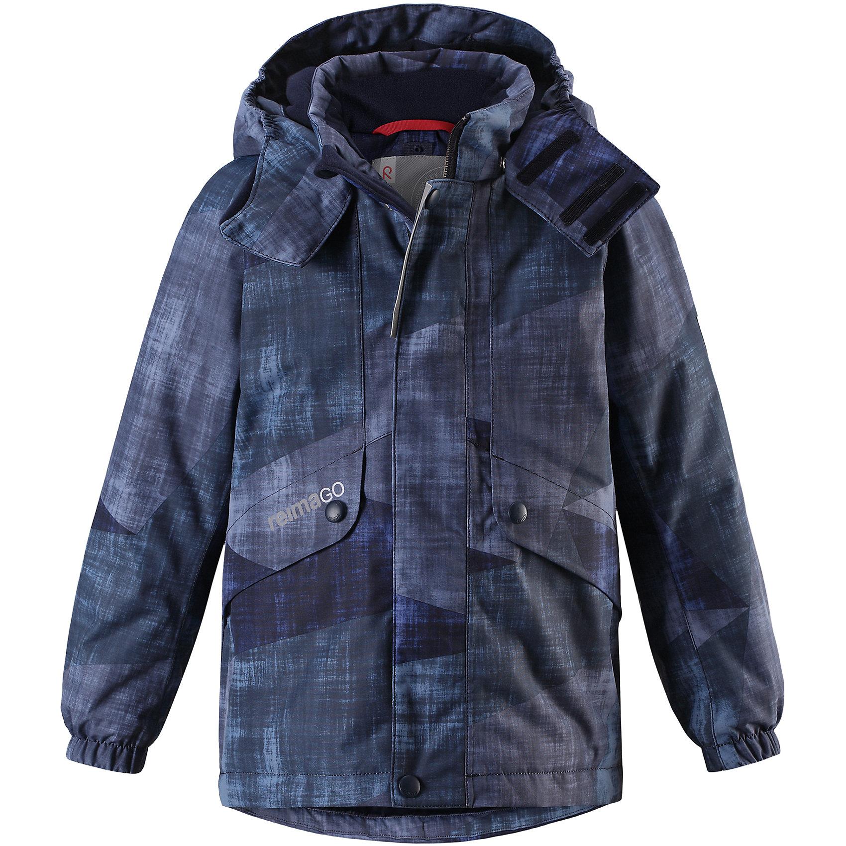 Куртка Elo Reimatec® ReimaОдежда<br>Детская абсолютно непромокаемая зимняя куртка Reimatec® изготовлена из водо- и ветронепроницаемого, прочного и дышащего материала, который эффективно отталкивает грязь. Все швы проклеены, водонепроницаемы. В этой модели прямого покроя подол при необходимости легко регулируется, что позволяет подогнать куртку точно по фигуре. Съемный и регулируемый капюшон защищает от пронизывающего ветра и проливного дождя, а еще он безопасен во время игр на свежем воздухе. <br><br>С помощью удобной системы кнопок Play Layers® к этой куртке можно присоединять одежду промежуточного слоя Reima®, которая подарит вашему ребенку дополнительное тепло и комфорт. В куртке предусмотрены два кармана на молнии, внутренний нагрудный карман, карман для сенсора ReimaGO® и множество светоотражающих деталей. Эта куртка очень проста в уходе, кроме того, ее можно сушить в стиральной машине. <br>Состав:<br>100% Полиэстер<br><br>Ширина мм: 356<br>Глубина мм: 10<br>Высота мм: 245<br>Вес г: 519<br>Цвет: синий<br>Возраст от месяцев: 108<br>Возраст до месяцев: 120<br>Пол: Унисекс<br>Возраст: Детский<br>Размер: 140,104,110,116,122,128,134<br>SKU: 6901241