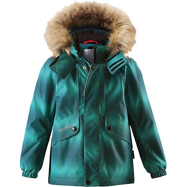 Куртка Reimatec® Reima Furu для мальчикаОдежда<br>Характеристики товара:<br><br>• цвет: зеленый;<br>• состав: 100% полиэстер;<br>• подкладка: 100% полиэстер;<br>• утеплитель: 160 г/м2<br>• температурный режим: от 0 до -20С;<br>• сезон: зима; <br>• водонепроницаемость: 15000 мм;<br>• воздухопроницаемость: 7000 мм;<br>• износостойкость: 40000 циклов (тест Мартиндейла);<br>• водо- и ветронепроницаемый, дышащий и грязеотталкивающий материал;<br>• все швы проклеены и водонепроницаемы;<br>• гладкая подкладка из полиэстера;<br>• эластичные манжеты;<br>• застежка: молния с защитой подбородка;<br>• безопасный съемный и регулируемый капюшон на кнопках;<br>• съемный искусственный мех на капюшоне;<br>• регулируемый подол;<br>• два кармана на кнопках;<br>• внутренний нагрудный карман;<br>• карман с креплением для сенсора ReimaGO®;<br>• светоотражающие детали;<br>• страна бренда: Финляндия;<br>• страна изготовитель: Китай.<br><br>Детская непромокаемая зимняя куртка Reimatec® изготовлена из водо и ветронепроницаемого, дышащего и прочного материала с высокими грязеотталкивающими свойствами. Все швы проклеены, водонепроницаемы. В этой модели прямого покроя подол при необходимости легко регулируется, что позволяет подогнать куртку точно по фигуре. Она снабжена съемным и регулируемым капюшоном со съемной отделкой из искусственного меха. <br><br>С помощью удобной системы кнопок Play Layers® к этой куртке можно присоединять одежду промежуточного слоя Reima®, которая подарит вашему ребенку дополнительное тепло и комфорт. В куртке предусмотрены два кармана на молнии, внутренний нагрудный карман, карман для сенсора ReimaGO® и множество светоотражающих деталей. Эта куртка очень проста в уходе, кроме того, ее можно сушить в стиральной машине.<br><br>Куртку Furu Reimatec® Reima от финского бренда Reima (Рейма) можно купить в нашем интернет-магазине.<br><br>Ширина мм: 356<br>Глубина мм: 10<br>Высота мм: 245<br>Вес г: 519<br>Цвет: зеленый<br>Возраст от месяцев: 48<br>Возраст до месяцев: 60<br>П