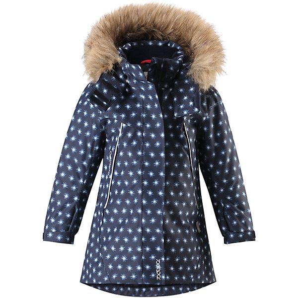 Куртка Reimatec® Reima Muhvi для девочкиОдежда<br>Характеристики товара:<br><br>• цвет: синий;<br>• состав: 100% полиэстер;<br>• подкладка: 100% полиэстер;<br>• утеплитель: 160 г/м2<br>• температурный режим: от 0 до -20С;<br>• сезон: зима; <br>• водонепроницаемость: 15000 мм;<br>• воздухопроницаемость: 7000 мм;<br>• износостойкость: 30000 циклов (тест Мартиндейла);<br>• водо- и ветронепроницаемый, дышащий и грязеотталкивающий материал;<br>• все швы проклеены и водонепроницаемы;<br>• гладкая подкладка из полиэстера;<br>• эластичные манжеты;<br>• застежка: молния с защитой подбородка;<br>• безопасный съемный и регулируемый капюшон на кнопках;<br>• съемный искусственный мех на капюшоне;<br>• регулируемые манжеты и подол;<br>• два кармана на кнопках;<br>• внутренний нагрудный карман;<br>• карман с креплением для сенсора ReimaGO®;<br>• светоотражающие детали;<br>• страна бренда: Финляндия;<br>• страна изготовитель: Китай.<br><br>Теплая, водо и ветронепроницаемая детская зимняя куртка Reimatec®. Материал отталкивает грязь и хорошо дышит, так что ваш ребенок не вспотеет. Все швы проклеены, водонепроницаемы. Эта объемная модель отлично сидит благодаря сборке сзади на талии, а также регулируемым манжетам и подолу. Эта куртка с подкладкой из гладкого полиэстера легко надевается. С помощью удобной системы кнопок Play Layers® к куртке можно присоединять разнообразную одежду промежуточного слоя Reima®. <br><br>В куртке предусмотрен съемный капюшон, отороченный съемной отделкой из искусственного меха, и множество светоотражающих деталей. В карманах на молнии можно хранить все самое важное, например, смартфон можно положить в нагрудный карман или в два передних кармана на молнии. А для сенсора ReimaGO имеется специальный карман с кнопками. Эта куртка очень проста в уходе, ведь ее можно сушить в стиральной машине.<br><br>Куртку Muhvi для девочки Reimatec® Reima от финского бренда Reima (Рейма) можно купить в нашем интернет-магазине.<br><br>Ширина мм: 356<br>Глубина мм: 10<br>Высота