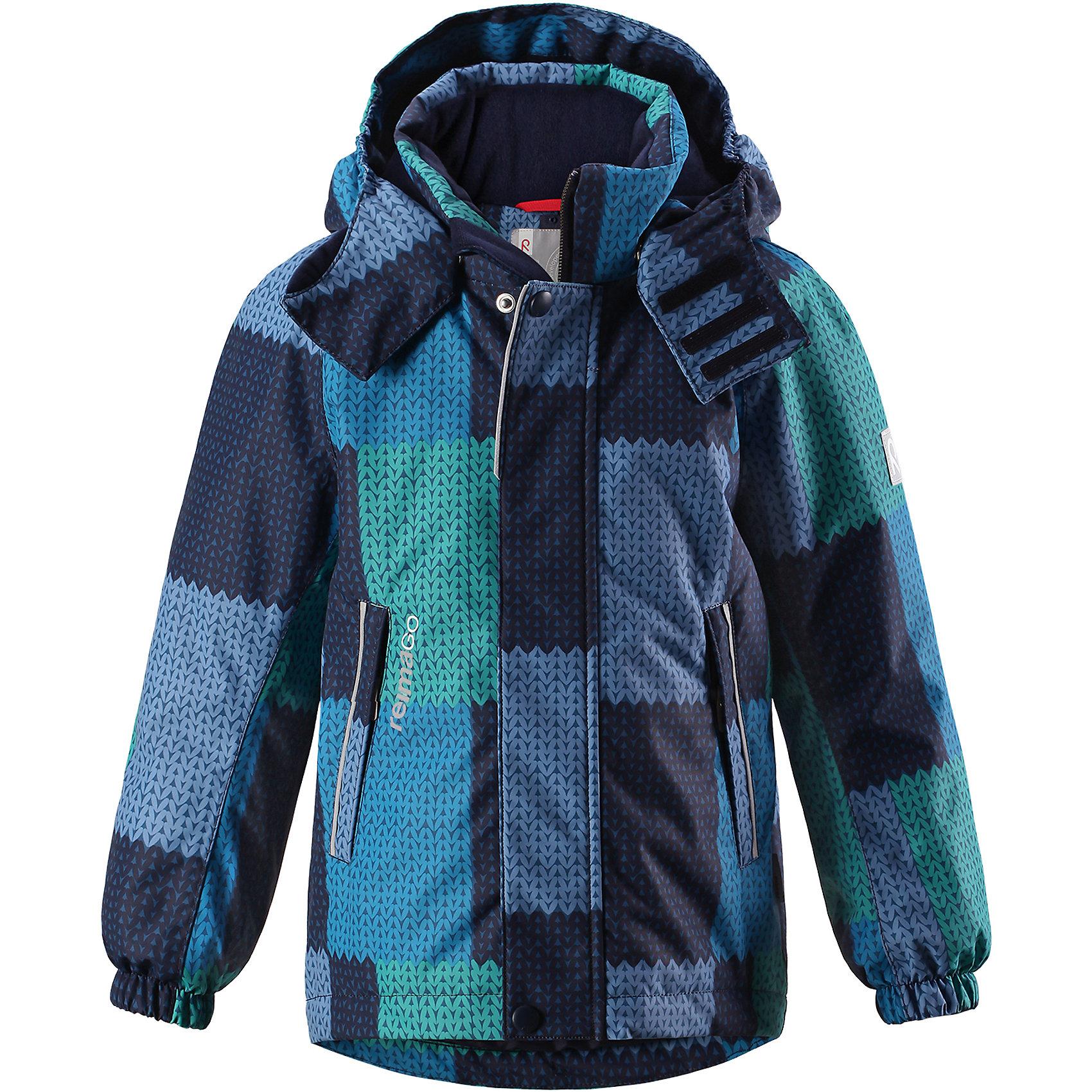 Куртка Multe Reimatec® ReimaЗимние куртки<br>Детская непромокаемая зимняя куртка Reimatec® изготовлена из водо- и ветронепроницаемого, дышащего и прочного материала. Эффективно отталкивает грязь. Все швы проклеены, водонепроницаемы. В этой модели просторного кроя подол легко регулируется, что позволяет подогнать куртку точно по фигуре. Съемный и регулируемый капюшон защищает от пронизывающего ветра и проливного дождя, а еще он безопасен во время игр на свежем воздухе. <br><br>С помощью удобной системы кнопок Play Layers® к этой куртке можно присоединять одежду промежуточного слоя Reima®, которая подарит вашему ребенку дополнительное тепло и комфорт. В куртке предусмотрены эластичные манжеты, два кармана на молнии, внутренний нагрудный карман, карман для сенсора ReimaGO® и множество светоотражающих деталей. Эта куртка очень проста в уходе, кроме того, ее можно сушить в стиральной машине. <br>Состав:<br>100% Полиэстер<br><br>Ширина мм: 356<br>Глубина мм: 10<br>Высота мм: 245<br>Вес г: 519<br>Цвет: синий<br>Возраст от месяцев: 108<br>Возраст до месяцев: 120<br>Пол: Унисекс<br>Возраст: Детский<br>Размер: 140,104,110,116,122,128,134<br>SKU: 6901305