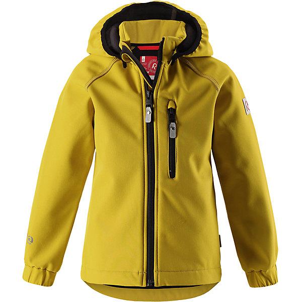 Куртка Vantti Reima для девочкиОдежда<br>Характеристики товара:<br><br>• цвет: желтый;<br>• состав: 95% полиэстер, 5% эластан, полиуретановое покрытие;<br>• утеплитель: без утеплителя;<br>• сезон: демисезон;<br>• температурный режим: от +5 до +15С;<br>• водонепроницаемость: 10000 мм;<br>• воздухопроницаемость: 4000 мм;<br>• водоотталкивающий, ветронепроницаемый и дышащий материал;<br>• многослойный материал, с изнаночной стороны - флис;<br>• водонепроницаемый материал softshell;<br>• застежка: молния с защитой подбородка от защемления;<br>• безопасный съемный капюшон;<br>• эластичные манжеты;<br>• карман на молнии;<br>• светоотражающие элементы;<br>• страна бренда: Финляндия;<br>• страна производства: Китай.<br><br>Демисезонная куртка с капюшоном изготовлена из водо и грязеотталкивающего материала softshell. Куртка на молнии, с флисовой подкладкой станет идеальным выбором для холодных весенних и осенних дней. Мягкий и эластичный материал softshell дарит ощущение комфорта. В двух карманах найдется место для всех мелочей. Благодаря эластичным сборкам на рукавах и подоле, куртка отлично сидит. Куртка без подкладки. <br><br>Куртка Vantti Reima можно купить в нашем интернет-магазине.<br>Ширина мм: 356; Глубина мм: 10; Высота мм: 245; Вес г: 519; Цвет: желтый; Возраст от месяцев: 96; Возраст до месяцев: 108; Пол: Женский; Возраст: Детский; Размер: 134,92,140,128,122,116,110,104,98; SKU: 6901341;