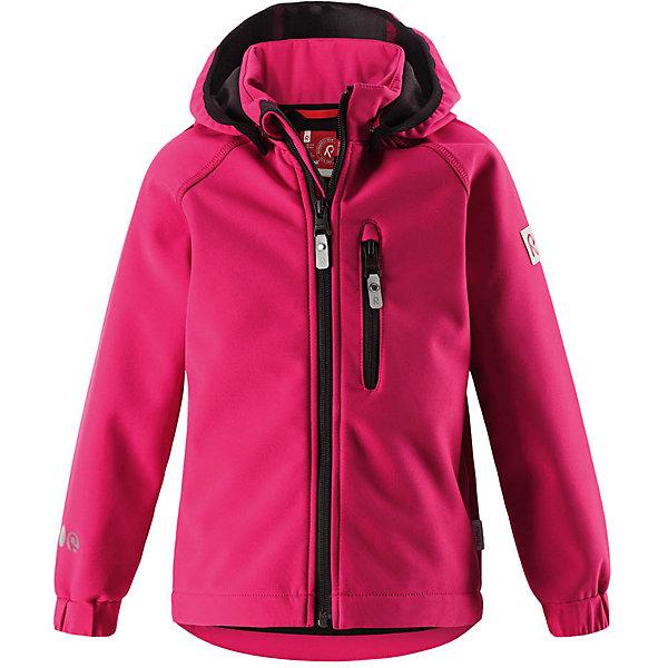 Куртка Vantti Reima для девочкиОдежда<br>Характеристики товара:<br><br>• цвет: розовый;<br>• состав: 95% полиэстер, 5% эластан, полиуретановое покрытие;<br>• утеплитель: без утеплителя;<br>• сезон: демисезон;<br>• температурный режим: от +5 до +15С;<br>• водонепроницаемость: 10000 мм;<br>• воздухопроницаемость: 4000 мм;<br>• водоотталкивающий, ветронепроницаемый и дышащий материал;<br>• многослойный материал, с изнаночной стороны - флис;<br>• водонепроницаемый материал softshell;<br>• застежка: молния с защитой подбородка от защемления;<br>• безопасный съемный капюшон;<br>• эластичные манжеты;<br>• карман на молнии;<br>• светоотражающие элементы;<br>• страна бренда: Финляндия;<br>• страна производства: Китай.<br><br>Демисезонная куртка с капюшоном изготовлена из водо и грязеотталкивающего материала softshell. Куртка на молнии, с флисовой подкладкой станет идеальным выбором для холодных весенних и осенних дней. Мягкий и эластичный материал softshell дарит ощущение комфорта. В двух карманах найдется место для всех мелочей. Благодаря эластичным сборкам на рукавах и подоле, куртка отлично сидит. Куртка без подкладки. <br><br>Куртка Vantti Reima можно купить в нашем интернет-магазине.<br>Ширина мм: 356; Глубина мм: 10; Высота мм: 245; Вес г: 519; Цвет: розовый; Возраст от месяцев: 96; Возраст до месяцев: 108; Пол: Женский; Возраст: Детский; Размер: 134,92,140,128,122,116,110,104,98; SKU: 6901351;