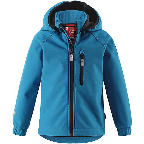 Куртка Vantti Reima для мальчикаФлис и термобелье<br>Характеристики товара:<br><br>• цвет: голубой;<br>• состав: 95% полиэстер, 5% эластан, полиуретановое покрытие;<br>• утеплитель: без утеплителя;<br>• сезон: демисезон;<br>• температурный режим: от +5 до +15С;<br>• водонепроницаемость: 10000 мм;<br>• воздухопроницаемость: 4000 мм;<br>• водоотталкивающий, ветронепроницаемый и дышащий материал;<br>• многослойный материал, с изнаночной стороны - флис;<br>• водонепроницаемый материал softshell;<br>• застежка: молния с защитой подбородка от защемления;<br>• безопасный съемный капюшон;<br>• эластичные манжеты;<br>• карман на молнии;<br>• светоотражающие элементы;<br>• страна бренда: Финляндия;<br>• страна производства: Китай.<br><br>Демисезонная куртка с капюшоном изготовлена из водо и грязеотталкивающего материала softshell. Куртка на молнии, с флисовой подкладкой станет идеальным выбором для холодных весенних и осенних дней. Мягкий и эластичный материал softshell дарит ощущение комфорта. В двух карманах найдется место для всех мелочей. Благодаря эластичным сборкам на рукавах и подоле, куртка отлично сидит. Куртка без подкладки. <br><br>Куртка Vantti Reima можно купить в нашем интернет-магазине.<br><br>Ширина мм: 356<br>Глубина мм: 10<br>Высота мм: 245<br>Вес г: 519<br>Цвет: синий<br>Возраст от месяцев: 84<br>Возраст до месяцев: 96<br>Пол: Мужской<br>Возраст: Детский<br>Размер: 128,116,134,140,122,92,98,104,110<br>SKU: 6901361