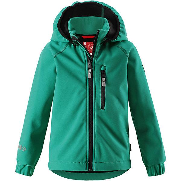 Куртка Vantti Reima для мальчикаФлис и термобелье<br>Характеристики товара:<br><br>• цвет: зеленый;<br>• состав: 95% полиэстер, 5% эластан, полиуретановое покрытие;<br>• утеплитель: без утеплителя;<br>• сезон: демисезон;<br>• температурный режим: от +5 до +15С;<br>• водонепроницаемость: 10000 мм;<br>• воздухопроницаемость: 4000 мм;<br>• водоотталкивающий, ветронепроницаемый и дышащий материал;<br>• многослойный материал, с изнаночной стороны - флис;<br>• водонепроницаемый материал softshell;<br>• застежка: молния с защитой подбородка от защемления;<br>• безопасный съемный капюшон;<br>• эластичные манжеты;<br>• карман на молнии;<br>• светоотражающие элементы;<br>• страна бренда: Финляндия;<br>• страна производства: Китай.<br><br>Демисезонная куртка с капюшоном изготовлена из водо и грязеотталкивающего материала softshell. Куртка на молнии, с флисовой подкладкой станет идеальным выбором для холодных весенних и осенних дней. Мягкий и эластичный материал softshell дарит ощущение комфорта. В двух карманах найдется место для всех мелочей. Благодаря эластичным сборкам на рукавах и подоле, куртка отлично сидит. Куртка без подкладки. <br><br>Куртка Vantti Reima можно купить в нашем интернет-магазине.<br>Ширина мм: 356; Глубина мм: 10; Высота мм: 245; Вес г: 519; Цвет: зеленый; Возраст от месяцев: 36; Возраст до месяцев: 48; Пол: Мужской; Возраст: Детский; Размер: 104,92,140,134,128,122,116,110,98; SKU: 6901381;