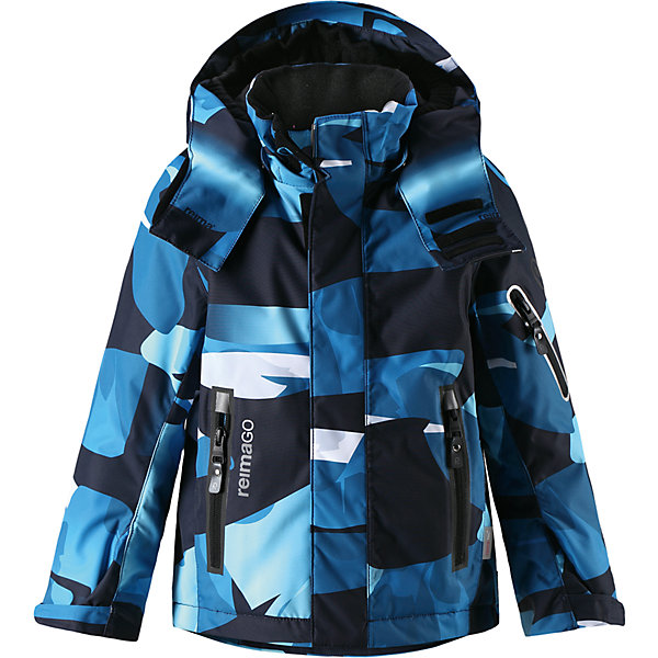 Куртка Regor Reimatec® Reima для мальчикаОдежда<br>Характеристики товара:<br><br>• цвет: синий принт;<br>• состав: 100% полиэстер;<br>• утеплитель: 140 г/м2;<br>• сезон: зима;<br>• температурный режим: от 0 до -20С;<br>• водонепроницаемость: 15000 мм;<br>• воздухопроницаемость: 7000 мм;<br>• износостойкость: 35000 циклов (тест Мартиндейла);<br>• водоотталкивающий, ветронепроницаемый и дышащий материал;<br>• все швы проклеены и водонепроницаемы;<br>• гладкая подкладка из полиэстера;<br>• застежка: молния с защитой подбородка от защемления;<br>• безопасный съемный и регулируемый капюшон;<br>• регулируемые манжеты и внутренние манжеты из лайкры;<br>• регулируемый подол;<br>• внутренняя снежная юбка;<br>• карманы на молнии, карман для skipass на рукаве;<br>• карман для очков и внутренний нагрудный карман;<br>• карман с креплениями для сенсора ReimaGO®<br>• светоотражающие элементы;<br>• страна бренда: Финляндия;<br>• страна производства: Китай.<br><br>Зимняя куртка с капюшоном Reimatec® с полностью проклеенными швами. Куртка на молнии сшита из специального материала – водо и ветронепроницаемого, и в то же время дышащего. Эта куртка с подкладкой из гладкого полиэстера легко надевается, и ее очень удобно носить с теплым промежуточным слоем. <br>Манжеты и подол куртки регулируются, так что ее можно подогнать идеально по фигуре. Снежная юбка не пропустит вовнутрь ни снежинки, а за ненадобностью ее можно пристегнуть к подкладке. Съемный и регулируемый капюшон безопасен, поскольку легко отстегнется, если вдруг за что-нибудь зацепится. Капюшон также оснащен козырьком и отворотом, защищающим шею от ветра. <br>Отделку куртки довершает карман для лыжной карты на рукаве, нагрудный карман и карман на молнии и специальный карман для сенсора ReimaGO. Эта куртка очень проста в уходе, кроме того, ее можно сушить в сушильной машине. Благодаря множеству практичных деталей эта прочная куртка просто создана для зимних забав.<br><br>Куртку Regor для мальчика Reimatec® Reima можно купить в н