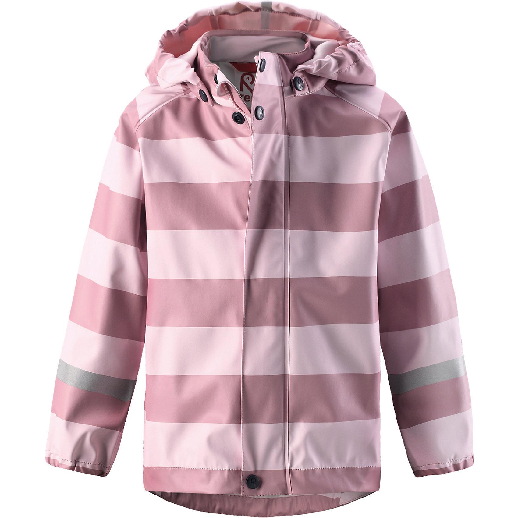 Плащ-дождевик Reima VesiОдежда<br>Детская куртка-дождевик изготовлена из удобного, эластичного материала, не содержащего ПВХ. Швы запаяны и абсолютно водонепроницаемы. Куртка-дождевик не деревенеет на морозе, поэтому ее можно носить круглый год – просто добавьте в холодную погоду теплый промежуточный слой. Съемный капюшон защитит даже от ливня, при этом он безопасен во время прогулок в дождливый день. Молния спереди во всю длину и множество светоотражающих деталей. Сочетайте куртку с брюками для дождя Reima® и вы заметите – в дождь играть еще веселее!<br>Состав:<br>100% Полиэстер<br><br>Ширина мм: 356<br>Глубина мм: 10<br>Высота мм: 245<br>Вес г: 519<br>Цвет: розовый<br>Возраст от месяцев: 108<br>Возраст до месяцев: 120<br>Пол: Унисекс<br>Возраст: Детский<br>Размер: 140,86,92,98,104,110,116,122,128,134<br>SKU: 6901468