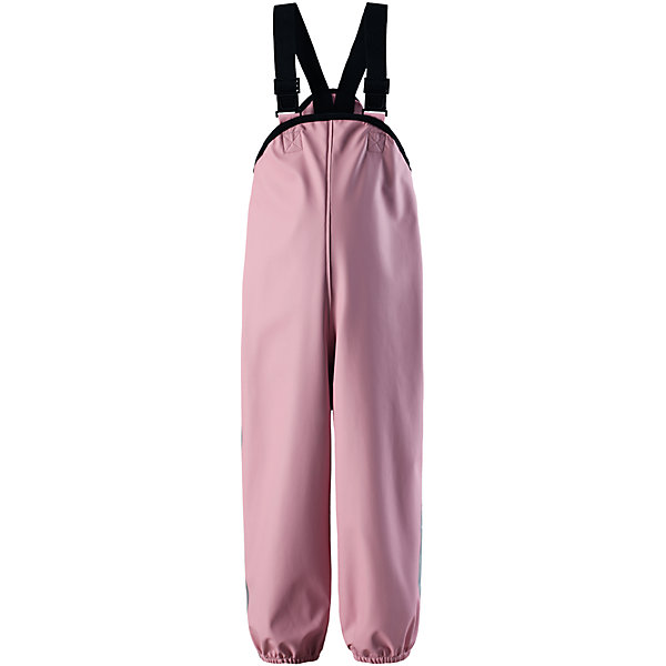 Дождевые брюки Reima Lammikko для девочкиОдежда<br>Характеристики товара:<br><br>• цвет: светло-розовый;<br>• состав: 100% полиэстер;<br>• без подкладки и утеплителя;<br>• сезон: демисезон; <br>• водонепроницаемость: 8000 мм;<br>• брюки для дождливой погоды;<br>• запаянные швы, не пропускающие влагу;<br>• эластичный материал;<br>• без ПВХ;<br>• регулируемый обхват талии;<br>• эластичные штанины;<br>• съемные эластичные штрипки;<br>• регулируемые подтяжки;<br>• светоотражающие детали;<br>• страна бренда: Финляндия;<br>• страна изготовитель: Китай.<br><br>Классические брюки для дождливой погоды гарантируют полную защиту. Материал – мягкий, но водонепроницаемый и грязеотталкивающий. К тому же он не «деревенеет» на морозе, поэтому брюки можно носить круглый год. Швы запаяны и абсолютно водонепроницаемы. Удобные эластичные подтяжки удерживают брюки во время активных игр, а штрипки не дадут брючинам задираться на голенищах резиновых сапог. Без подкладки.<br><br>Брюки Lammikko Reima от финского бренда Reima (Рейма) можно купить в нашем интернет-магазине.<br><br>Ширина мм: 215<br>Глубина мм: 88<br>Высота мм: 191<br>Вес г: 336<br>Цвет: розовый<br>Возраст от месяцев: 84<br>Возраст до месяцев: 96<br>Пол: Женский<br>Возраст: Детский<br>Размер: 128,80,122,116,110,104,98,92,86<br>SKU: 6901552