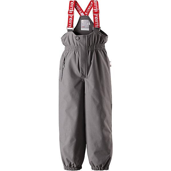 Брюки Reimatec® Reima JuoniВерхняя одежда<br>Характеристики товара:<br><br>• цвет: серый;<br>• состав: 100% полиэстер;<br>• подкладка: 100% полиэстер;<br>• утеплитель: 120 г/м2;<br>• температурный режим: от 0 до -20С;<br>• сезон: зима; <br>• водонепроницаемость: 12000 мм;<br>• воздухопроницаемость: 8000 мм;<br>• износостойкость: 80000 циклов (тест Мартиндейла);<br>• водо- и ветронепроницаемый, дышащий и грязеотталкивающий материал;<br>• все швы проклеены и водонепроницаемы;<br>• застежка: ширинка на молнии и пуговица;<br>• сверхпрочный  материал;<br>• высокая талия с регулируемыми подтяжками;<br>• гладкая подкладка из полиэстера;<br>• регулируемая длина брюк с помощью кнопок;<br>• эластичные штанины;<br>• прочные съемные силиконовые штрипки;<br>• карман на молнии;<br>• потайной карман для датчика ReimaGO®;<br>• светоотражающие детали;<br>• страна бренда: Финляндия;<br>• страна изготовитель: Китай.<br><br>Детские водонепроницаемые зимние брюки Reimatec®+ сшиты из очень прочного материала Duraplus®. Брюки с подтяжками изготовлены из специального материала – водонепроницаемого, сверхизносостойкого, ветронепроницаемого и в то же время дышащего. Все швы проклеены и водонепроницаемы. Благодаря высокой талии и регулируемым подтяжкам, брюки идеально сидят по фигуре. <br><br>Гладкая подкладка из полиэстера и длинная застежка на липучке облегчают надевание. Концы брючин регулируются под ширину обуви, а силиконовые штрипки не дадут брючинам задираться даже во время бега! Брюки снабжены одним карманом на молнии и специальным карманом для сенсора ReimaGO®.<br><br>Брюки Juoni Reimatec® Reima от финского бренда Reima (Рейма) можно купить в нашем интернет-магазине.<br><br>Ширина мм: 215<br>Глубина мм: 88<br>Высота мм: 191<br>Вес г: 336<br>Цвет: серый<br>Возраст от месяцев: 18<br>Возраст до месяцев: 24<br>Пол: Унисекс<br>Возраст: Детский<br>Размер: 92,128,122,116,110,104,98<br>SKU: 6901697