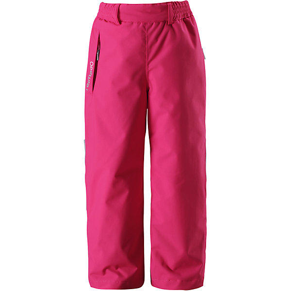 Брюки Reimatec® Reima VinhaВерхняя одежда<br>Характеристики товара:<br><br>• цвет: розовый;<br>• 100% полиэстер, полиуретановое покрытие;<br>• утеплитель: 100% полиэстер, 120 г/м2;<br>• сезон: зима;<br>• температурный режим: от 0 до -20С;<br>• водонепроницаемость: 12000 мм;<br>• воздухопроницаемость: 8000 мм;<br>• износостойкость: 80000 циклов (тест Мартиндейла)<br>• водо- и ветронепроницаемый, дышащий и грязеотталкивающий материал;<br>• все швы проклеены и водонепроницаемы;<br>• гладкая подкладка из полиэстера;<br>• эластичный регулируемый обхват талии;<br>• регулируемый низ брючин;<br>• снегозащитные манжеты на штанинах;<br>• карман на молнии;<br>• карман с креплением для датчика ReimaGO®;<br>• светоотражающие элементы;<br>• страна бренда: Финляндия;<br>• страна производства: Китай.<br><br>Зимние брюки Reimatec® для активных детей. В этих абсолютно непромокаемых детских брюках все швы проклеены. Кроме того, они сшиты из ветронепроницаемого и дышащего материала, так что ребенок не вспотеет во время активной прогулки. В брюках талия легко регулируется, что позволяет подогнать их идеально по фигуре концы брючин тоже регулируются. <br><br>Защита от снега легко пристегивается к концам брючин: она защищает ножки от холода и влаги, а также не дает брючинам соскальзывать под обувь. Снабжены карманом на молнии и потайным карманом для сенсора ReimaGO®. Эти брюки очень просты в уходе, кроме того, их можно сушить в сушильной машине.<br><br>Брюки Procyon Reimatec® Reima (Рейма) можно купить в нашем интернет-магазине.<br><br>Ширина мм: 215<br>Глубина мм: 88<br>Высота мм: 191<br>Вес г: 336<br>Цвет: розовый<br>Возраст от месяцев: 18<br>Возраст до месяцев: 24<br>Пол: Унисекс<br>Возраст: Детский<br>Размер: 92,140,134,128,122,116,110,104,98<br>SKU: 6901713