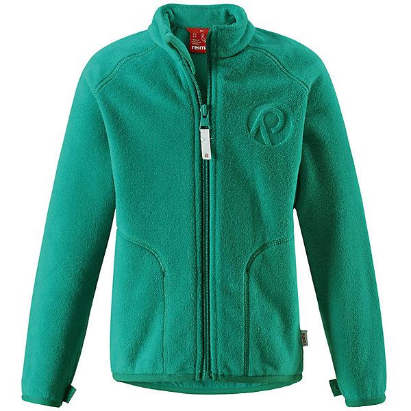 Флисовая кофта Reima InrunОдежда<br>Характеристики товара:<br><br>• цвет: зеленый;<br>• состав: 100% полиэстер, флис;<br>• быстро сохнет и сохраняет тепло;<br>• выводит влагу в верхние слои одежды;<br>• может пристегиваться к верхней одежде Reima® кнопками Play Layers®;<br>• эластичные манжеты и подол;<br>• молния по всей длине с защитой подбородка;<br>• два боковых кармана;<br>• страна бренда: Финляндия;<br>• страна производства: Китай.<br><br>Флисовая кофта на молнии превосходно послужит в качестве промежуточного слоя в морозные зимние дни – она теплая и очень мягкая на ощупь. Куртка изготовлена из легкого полярного флиса, дышащего и быстросохнущего материала. Молния во всю длину облегчает надевание, а защита для подбородка не дает поцарапать молнией шею и подбородок. <br><br>Эту практичную флисовую куртку легко можно пристегнуть к любой верхней одежде Reima®, оснащенной системой кнопок Play Layers®. Два боковых кармана и украшение в виде красивого сплошного рисунка. <br><br>Флисовую кофту Reima Inrun можно купить в нашем интернет-магазине.<br><br>Ширина мм: 190<br>Глубина мм: 74<br>Высота мм: 229<br>Вес г: 236<br>Цвет: зеленый<br>Возраст от месяцев: 72<br>Возраст до месяцев: 84<br>Пол: Унисекс<br>Возраст: Детский<br>Размер: 122,128,134,140,92,98,104,110,116<br>SKU: 6901883