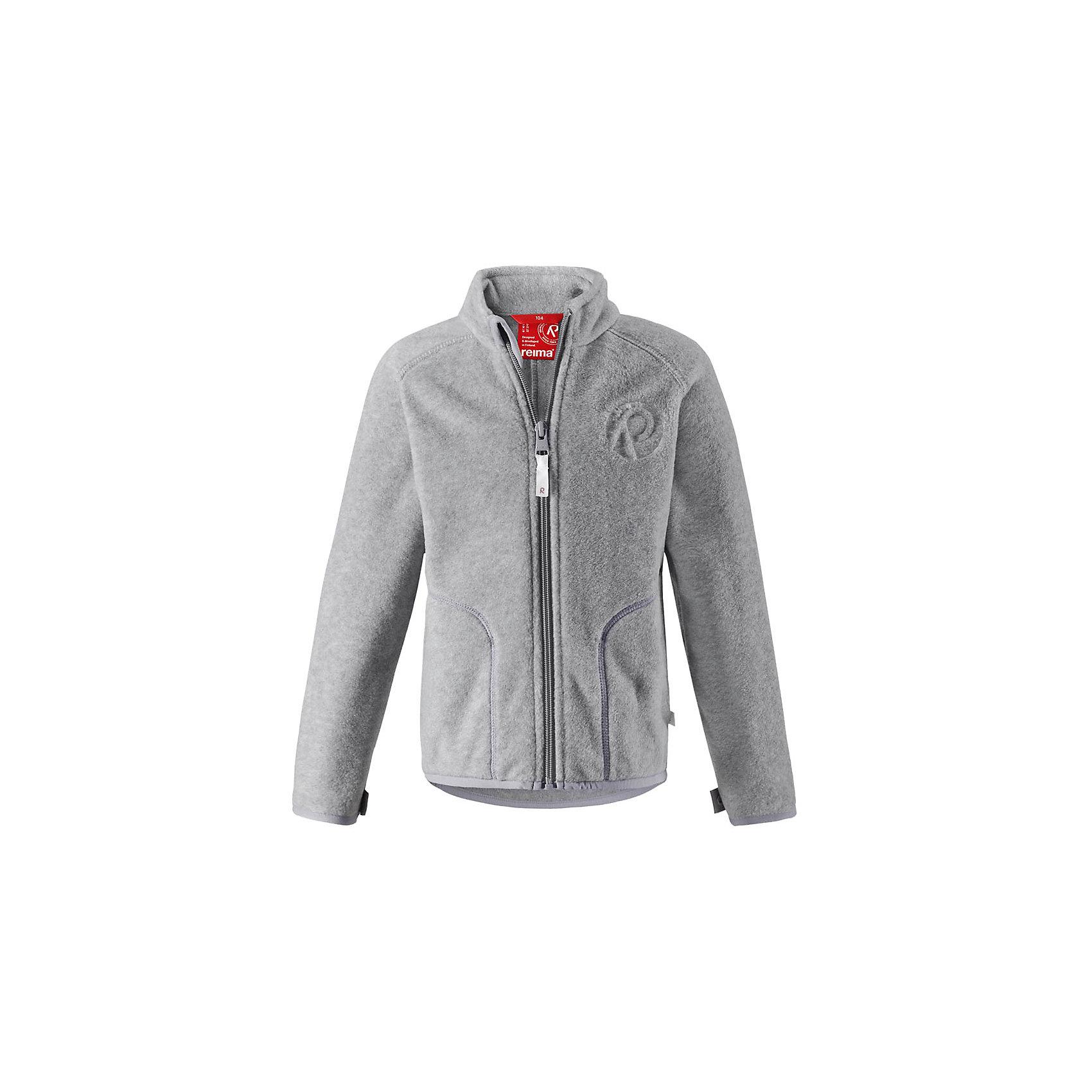 Флисовая кофта Reima InrunТолстовки<br>Супер удобная детская флисовая куртка превосходно послужит в качестве промежуточного слоя в морозные зимние дни – она теплая и очень мягкая на ощупь. Эта куртка изготовлена из легкого полярного флиса, дышащего и быстросохнущего материала. Молния во всю длину облегчает надевание, а защита для подбородка не дает поцарапать молнией шею и подбородок. <br><br>Эту практичную флисовую куртку легко можно пристегнуть к любой верхней одежде Reima®, оснащенной системой кнопок Play Layers®. Эта удобная куртка отлично подойдет для занятий в помещении – как раз для детского сада или школы. Два боковых кармана и украшение в виде красивого сплошного рисунка. Восхитительные расцветки – выбирай любую!<br>Состав:<br>100% Полиэстер<br><br>Ширина мм: 190<br>Глубина мм: 74<br>Высота мм: 229<br>Вес г: 236<br>Цвет: серый<br>Возраст от месяцев: 108<br>Возраст до месяцев: 120<br>Пол: Унисекс<br>Возраст: Детский<br>Размер: 140,92,98,104,110,116,122,128,134<br>SKU: 6901893