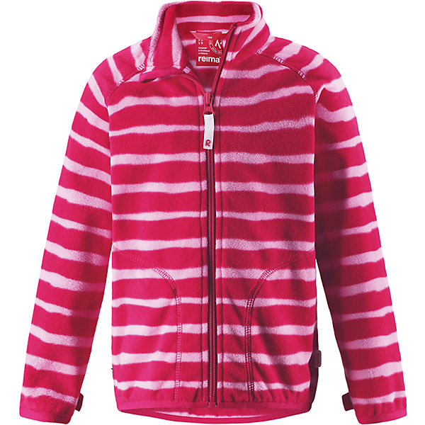 Флисовая кофта Reima Steppe для девочкиОдежда<br>Характеристики товара:<br><br>• цвет: розовый;<br>• состав: 100% полиэстер;<br>• сезон: зима;<br>• застежка: молния по всей длине с защитой подбородка;<br>• выводит влагу наружу;<br>• теплый, легкий и быстросохнущий флис;<br>• может пристегиваться к верхней одежде Reima® кнопками Play Layers®;<br>• эластичные манжеты и подол;<br>• два боковых кармана;<br>• страна бренда: Финляндия;<br>• страна изготовитель: Китай.<br><br>Супер удобная детская флисовая куртка превосходно послужит в качестве промежуточного слоя в морозные зимние дни – она теплая и очень мягкая на ощупь. Эта куртка изготовлена из легкого полярного флиса, дышащего и быстросохнущего материала. <br><br>Молния во всю длину облегчает надевание, а защита для подбородка не дает поцарапать молнией шею и подбородок. Практичную флисовую куртку легко можно пристегнуть к любой верхней одежде Reima®, оснащенной системой кнопок Play Layers®. Два боковых кармана и украшение в виде яркого рисунка.<br><br>Флисовая кофта Reima Steppe от финского бренда Reima (Рейма) можно купить в нашем интернет-магазине.<br>Ширина мм: 190; Глубина мм: 74; Высота мм: 229; Вес г: 236; Цвет: розовый; Возраст от месяцев: 18; Возраст до месяцев: 24; Пол: Женский; Возраст: Детский; Размер: 92,140,134,98,104,110,116,122,128; SKU: 6901959;
