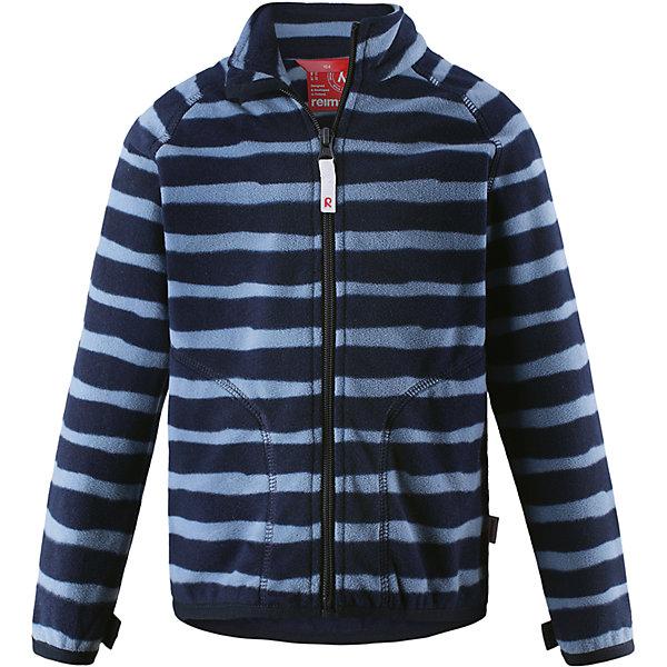 Флисовая кофта Reima Steppe для мальчикаОдежда<br>Характеристики товара:<br><br>• цвет: синий;<br>• состав: 100% полиэстер;<br>• сезон: зима;<br>• застежка: молния по всей длине с защитой подбородка;<br>• выводит влагу наружу;<br>• теплый, легкий и быстросохнущий флис;<br>• может пристегиваться к верхней одежде Reima® кнопками Play Layers®;<br>• эластичные манжеты и подол;<br>• два боковых кармана;<br>• страна бренда: Финляндия;<br>• страна изготовитель: Китай.<br><br>Супер удобная детская флисовая куртка превосходно послужит в качестве промежуточного слоя в морозные зимние дни – она теплая и очень мягкая на ощупь. Эта куртка изготовлена из легкого полярного флиса, дышащего и быстросохнущего материала. <br><br>Молния во всю длину облегчает надевание, а защита для подбородка не дает поцарапать молнией шею и подбородок. Практичную флисовую куртку легко можно пристегнуть к любой верхней одежде Reima®, оснащенной системой кнопок Play Layers®. Два боковых кармана и украшение в виде яркого рисунка.<br><br>Флисовая кофта Reima Steppe от финского бренда Reima (Рейма) можно купить в нашем интернет-магазине.<br>Ширина мм: 190; Глубина мм: 74; Высота мм: 229; Вес г: 236; Цвет: синий; Возраст от месяцев: 72; Возраст до месяцев: 84; Пол: Мужской; Возраст: Детский; Размер: 122,116,110,104,98,92,140,134,128; SKU: 6901969;