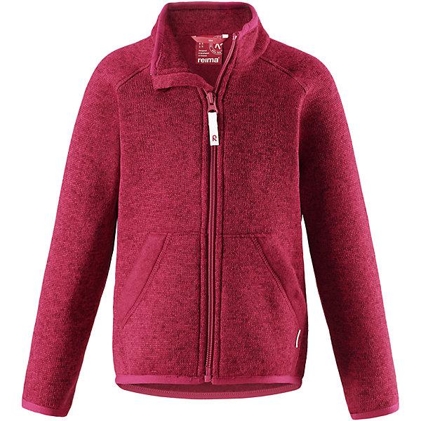 Флисовая кофта Reima HopperОдежда<br>Характеристики товара:<br><br>• цвет: темно-розовый;<br>• состав: 100% полиэстер;<br>• сезон: зима;<br>• застежка: молния по всей длине с защитой подбородка;<br>• мягкий меланжевый флисовый трикотаж: выглядит, как обычный свитер, и обладает всеми преимуществами флиса;<br>• эластичная резинка на воротнике, манжетах и подоле;<br>• удлиненный подол сзади;<br>• два кармана;<br>• страна бренда: Финляндия;<br>• страна изготовитель: Китай.<br><br>Легкая, теплая и мягкая детская куртка с красивой вязкой. Она сшита из мягкого и популярного меланжевого вязаного флиса, который объединил в себе стильный вязаный дизайн и все преимущества флиса: удобный, эластичный и дышащий флис быстро сохнет, выводя влагу в верхние слои одежды. <br>Куртка снабжена молнией во всю длину, чтобы облегчить процесс надевания, и защитой для подбородка, которая не даст поцарапать шею и подбородок. Удлиненная спинка защищает поясницу. Эта флисовая куртка, поддетая под верхнюю одежду, превосходно согреет в морозные зимние дни.<br><br>Флисовая кофта Reima Hopper от финского бренда Reima (Рейма) можно купить в нашем интернет-магазине.<br>Ширина мм: 190; Глубина мм: 74; Высота мм: 229; Вес г: 236; Цвет: розовый; Возраст от месяцев: 60; Возраст до месяцев: 72; Пол: Унисекс; Возраст: Детский; Размер: 116,140,110,104,98,134,92,128,122; SKU: 6901989;