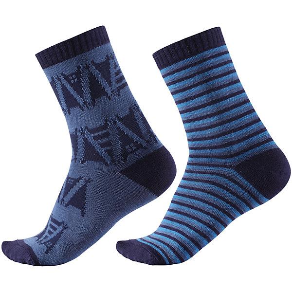Носки Reima Strum, 2 пары для мальчикаНоски<br>Характеристики товара:<br><br>• цвет: синий;<br>• состав: 55% шерсть, 35% полиэстер, 8% полиамид, 2% эластан;<br>• сезон: зима;<br>• легкая ткань без вставок;<br>• быстро сохнут и сохраняют тепло;<br>• шерсть идеально поддерживает температуру;<br>• страна бренда: Финляндия;<br>• страна изготовитель: Китай.<br><br>Модные и яркие длинные детские носки изготовлены из теплого и мягкого полушерстяного трикотажа. Носки превосходно регулируют температуру, особенно в морозные зимние дни! Эластичный шерстяной трикотаж отлично пропускает воздух и быстро сохнет, поэтому ребенку будет максимально комфортно во время веселых прогулок. Облегченная модель без усилений на подошве.<br><br>Носки Strum Reima от финского бренда Reima (Рейма) можно купить в нашем интернет-магазине.<br><br>Ширина мм: 87<br>Глубина мм: 10<br>Высота мм: 105<br>Вес г: 115<br>Цвет: синий<br>Возраст от месяцев: 168<br>Возраст до месяцев: 1188<br>Пол: Мужской<br>Возраст: Детский<br>Размер: 34-37,22-25,26-29,30-33<br>SKU: 6902058