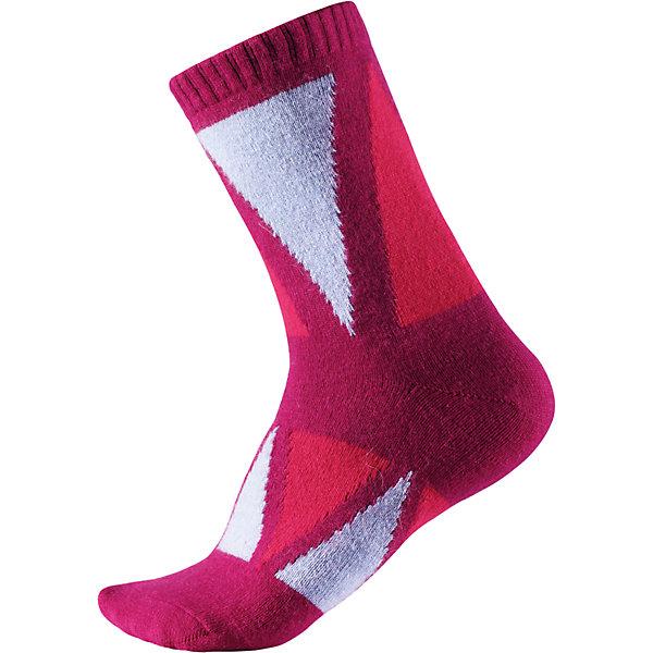 Носки Reima SavoНоски<br>Характеристики товара:<br><br>• цвет: розовый;<br>• состав: 36% вискоза, 34% полиамид, 20% шерсть, 7% полиэстер, 3% эластан;<br>• сезон: зима;<br>• легкая ткань без вставок;<br>• быстро сохнут и сохраняют тепло;<br>• благодаря теплой и мягкой ткани из смеси ангорской шерсти ноги детей всегда в тепле;<br>• страна бренда: Финляндия;<br>• страна изготовитель: Китай.<br><br>Классные и яркие длинные детские носки из шерстяного трикотажа – отличный выбор для любителей активных прогулок! Носки изготовлены из теплой и мягкой ангорской полушерсти и превосходно регулируют температуру, особенно в морозные зимние дни! Эластичный шерстяной трикотаж отлично пропускает воздух и быстро сохнет, поэтому ребенку будет максимально комфортно во время веселых прогулок. Облегченная модель без усилений на подошве.<br><br>Носки Savo Reima от финского бренда Reima (Рейма) можно купить в нашем интернет-магазине.<br><br>Ширина мм: 87<br>Глубина мм: 10<br>Высота мм: 105<br>Вес г: 115<br>Цвет: розовый<br>Возраст от месяцев: 84<br>Возраст до месяцев: 108<br>Пол: Унисекс<br>Возраст: Детский<br>Размер: 22-25,34-37,30-33,26-29<br>SKU: 6902068
