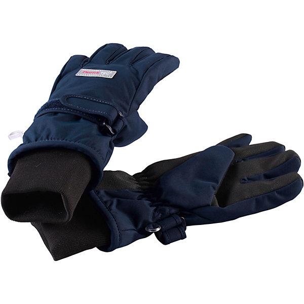 Перчатки Reimatec® Reima PivoПерчатки и варежки<br>Характеристики товара:<br><br>• цвет: синий;<br>• состав: 100% полиэстер;<br>• подкладка: 100% полиэстер, флис;<br>• без дополнительного утепления;<br>• сезон: демисезон, зима;<br>• температурный режим: от 0 до -10;<br>• водонепроницаемость: 10000/15000 мм;<br>• воздухопроницаемость: 7000 мм;<br>• износостойкость: 40000 циклов (тест Мартиндейла);<br>• полная водонепроницаемость и дышащая способность благодаря вставке Hipora;<br>• водоотталкивающий, ветронепроницаемый и грязеотталкивающий материал;<br>• прочный материал;<br>• усиленные накладки на ладонях, кончиках пальцев  и больших пальцах;<br>• сплошная подкладка: мягкий теплый флис;<br>• застежка на липучке спереди;<br>• эластичный кант на манжетах;<br>• светоотражающие детали;<br>• страна бренда: Финляндия;<br>• страна изготовитель: Китай.<br><br>Абсолютно водонепроницаемые, дышащие и эластичные перчатки для малышей и детей постарше. Благодаря водонепроницаемому материалу и специальной вставке Hipora, эти перчатки не пропустят вовнутрь ни воду, ни сырость. Ветронепроницаемый материал, из которого они изготовлены, невероятно прочный и простой в уходе: эти перчатки можно сушить в сушильной машине. <br><br>Усиления на ладони, кончиках пальцев и на большом пальце позволяют крепко держать в руках разные сокровища, найденные во время приключений на природе. Удобная флисовая подкладка очень мягкая на ощупь и не заставляет ребенка потеть.<br><br>Перчатки Pivo Reimatec® Reima от финского бренда Reima (Рейма) можно купить в нашем интернет-магазине.<br><br>Ширина мм: 162<br>Глубина мм: 171<br>Высота мм: 55<br>Вес г: 119<br>Цвет: синий<br>Возраст от месяцев: 120<br>Возраст до месяцев: 144<br>Пол: Мужской<br>Возраст: Детский<br>Размер: 6,5,4,3,8,7<br>SKU: 6902353