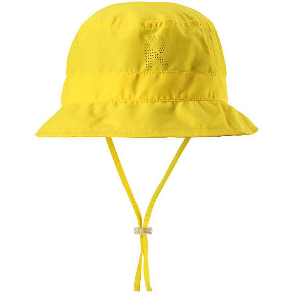 Панама Reima Tropical для девочкиШапки и шарфы<br>Характеристики товара:<br><br>• цвет: желтый;<br>• состав: 100% полиэстер;<br>• солнцезащитная панама;<br>• стильный защитный козырек;<br>• фактор защиты от ультрафиолета 50+;<br>• легкий стиль, без подкладки;<br>• страна бренда: Финляндия;<br>• страна изготовитель: Китай.<br><br>Классная защитная панама для малышей и детей постарше с фактором УФ-защиты 50+. Козырек панамы защищает лицо и глаза от вредного ультрафиолета. Изготовлена из дышащего и легкого материала SunProof. Облегченная модель без подкладки а чтобы ветер не унес эту новую очаровательную панаму, просто завяжите завязки!<br><br>Панаму Tropical Reima от финского бренда Reima (Рейма) можно купить в нашем интернет-магазине.<br>Ширина мм: 89; Глубина мм: 117; Высота мм: 44; Вес г: 155; Цвет: желтый; Возраст от месяцев: 9; Возраст до месяцев: 12; Пол: Женский; Возраст: Детский; Размер: 46,52,54,48,50; SKU: 6902447;