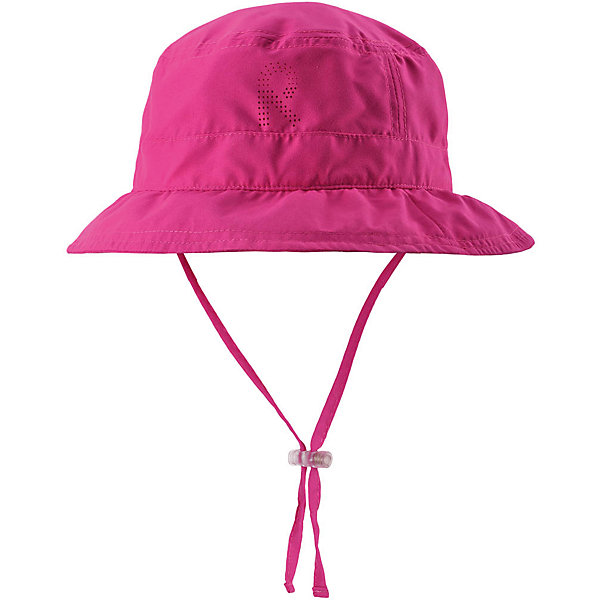 Панама Reima TropicalГоловные уборы<br>Характеристики товара:<br><br>• цвет: розовый;<br>• состав: 100% полиэстер;<br>• солнцезащитная панама;<br>• стильный защитный козырек;<br>• фактор защиты от ультрафиолета 50+;<br>• легкий стиль, без подкладки;<br>• страна бренда: Финляндия;<br>• страна изготовитель: Китай.<br><br>Классная защитная панама для малышей и детей постарше с фактором УФ-защиты 50+. Козырек панамы защищает лицо и глаза от вредного ультрафиолета. Изготовлена из дышащего и легкого материала SunProof. Облегченная модель без подкладки а чтобы ветер не унес эту новую очаровательную панаму, просто завяжите завязки!<br><br>Панаму Tropical Reima от финского бренда Reima (Рейма) можно купить в нашем интернет-магазине.<br><br>Ширина мм: 89<br>Глубина мм: 117<br>Высота мм: 44<br>Вес г: 155<br>Цвет: розовый<br>Возраст от месяцев: 9<br>Возраст до месяцев: 12<br>Пол: Женский<br>Возраст: Детский<br>Размер: 46,54,52,50,48<br>SKU: 6902453