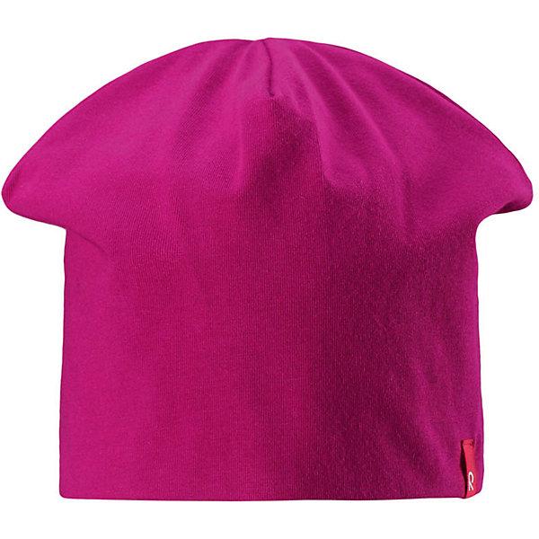 Шапка Reima HirviШапки и шарфы<br>Характеристики товара:<br><br>• цвет: фуксия/светло-розовый;<br>• состав: 61% хлопок, 33% полиэстер, 6% эластан;<br>• сезон: демисезон;<br>• температурный режим: от +5 до +15С;<br>• двухсторонняя шапка;<br>• быстросохнущий материал Play jersey, приятный на ощупь;<br>• выводит влагу наружу;<br>• мягкий хлопчатобумажный материал;<br>• фактор защиты от ультрафиолета 40+;<br>• сплошная подкладка: материал Play jersey;<br>• логотип Reima® сбоку;<br>• страна бренда: Финляндия;<br>• страна изготовитель: Китай.<br><br>Легкая двусторонняя шапка для малышей и детей постарше свежей расцветки с УФ-защитой 40+. Шапка изготовлена из дышащего и быстросохнущего материла Play Jersey®, эффективно выводящего влагу с кожи. Озорная двухсторонняя шапка меняет цвет в одно мгновение.<br><br>Шапку Hirvi Reima от финского бренда Reima (Рейма) можно купить в нашем интернет-магазине.<br>Ширина мм: 89; Глубина мм: 117; Высота мм: 44; Вес г: 155; Цвет: розовый; Возраст от месяцев: 36; Возраст до месяцев: 48; Пол: Унисекс; Возраст: Детский; Размер: 50-52,54-56; SKU: 6902477;