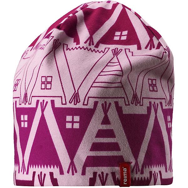 Шапка Reima HirviШапки и шарфы<br>Характеристики товара:<br><br>• цвет: сиреневый/фуксия;<br>• состав: 61% хлопок, 33% полиэстер, 6% эластан;<br>• сезон: демисезон;<br>• температурный режим: от +5 до +15С;<br>• двухсторонняя шапка;<br>• быстросохнущий материал Play jersey, приятный на ощупь;<br>• выводит влагу наружу;<br>• мягкий хлопчатобумажный материал;<br>• фактор защиты от ультрафиолета 40+;<br>• сплошная подкладка: материал Play jersey;<br>• логотип Reima® сбоку;<br>• страна бренда: Финляндия;<br>• страна изготовитель: Китай.<br><br>Легкая двусторонняя шапка для малышей и детей постарше свежей расцветки с УФ-защитой 40+. Шапка изготовлена из дышащего и быстросохнущего материла Play Jersey®, эффективно выводящего влагу с кожи. Озорная двухсторонняя шапка меняет цвет в одно мгновение.<br><br>Шапку Hirvi Reima от финского бренда Reima (Рейма) можно купить в нашем интернет-магазине.<br><br>Ширина мм: 89<br>Глубина мм: 117<br>Высота мм: 44<br>Вес г: 155<br>Цвет: розовый<br>Возраст от месяцев: 36<br>Возраст до месяцев: 48<br>Пол: Унисекс<br>Возраст: Детский<br>Размер: 50-52,54-56<br>SKU: 6902480
