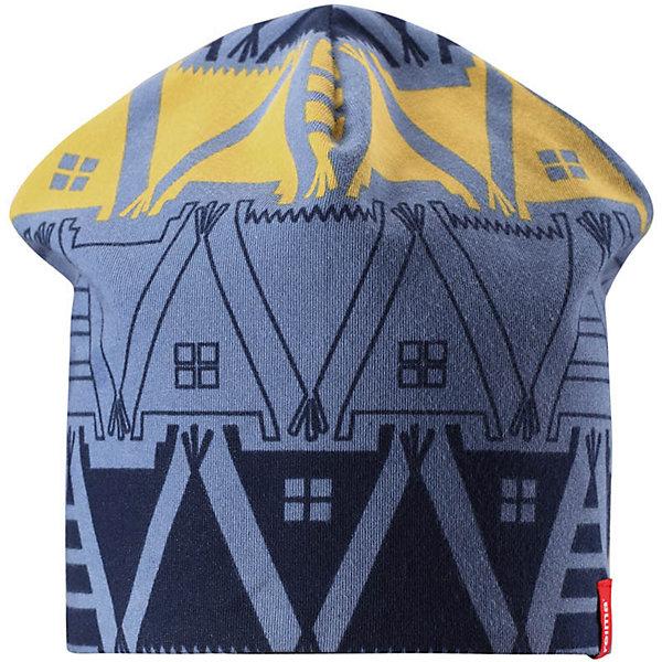 Шапка Reima Hirvi для мальчикаШапки и шарфы<br>Характеристики товара:<br><br>• цвет: синий/темно-синий;<br>• состав: 61% хлопок, 33% полиэстер, 6% эластан;<br>• сезон: демисезон;<br>• температурный режим: от +5 до +15С;<br>• двухсторонняя шапка;<br>• быстросохнущий материал Play jersey, приятный на ощупь;<br>• выводит влагу наружу;<br>• мягкий хлопчатобумажный материал;<br>• фактор защиты от ультрафиолета 40+;<br>• сплошная подкладка: материал Play jersey;<br>• логотип Reima® сбоку;<br>• страна бренда: Финляндия;<br>• страна изготовитель: Китай.<br><br>Легкая двусторонняя шапка для малышей и детей постарше свежей расцветки с УФ-защитой 40+. Шапка изготовлена из дышащего и быстросохнущего материла Play Jersey®, эффективно выводящего влагу с кожи. Озорная двухсторонняя шапка меняет цвет в одно мгновение.<br><br>Шапку Hirvi Reima от финского бренда Reima (Рейма) можно купить в нашем интернет-магазине.<br>Ширина мм: 89; Глубина мм: 117; Высота мм: 44; Вес г: 155; Цвет: синий; Возраст от месяцев: 36; Возраст до месяцев: 48; Пол: Мужской; Возраст: Детский; Размер: 50-52,54-56; SKU: 6902486;