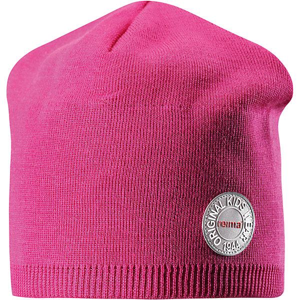 Шапка Reima Nebula для девочкиГоловные уборы<br>Характеристики товара:<br><br>• цвет: розовый;<br>• состав: 50% шерсть, 50% полиакрил;<br>• сезон: зима;<br>• температурный режим: от +5 до -10С;<br>• шерсть идеально поддерживает температуру;<br>• мягкая и теплая ткань из смеси шерсти;<br>• ветронепроницаемые вставки в области ушей;<br>• частичная подкладка;<br>• логотип Reima® спереди;<br>• страна бренда: Финляндия;<br>• страна изготовитель: Китай.<br><br>Детская шапка из теплого шерстяного трикотажа. Материал превосходно регулирует температуру и хорошо согревает голову. Ветронепроницаемые вставки и полуподкладка из мягкого и дышащего вязаного хлопка. Сплошная жаккардовая узорная вязка. Теплый, удобный, эластичный материал.<br><br>Шапку Nebula Reima от финского бренда Reima (Рейма) можно купить в нашем интернет-магазине.<br><br>Ширина мм: 89<br>Глубина мм: 117<br>Высота мм: 44<br>Вес г: 155<br>Цвет: розовый<br>Возраст от месяцев: 84<br>Возраст до месяцев: 144<br>Пол: Женский<br>Возраст: Детский<br>Размер: 56,50,52,54<br>SKU: 6902495