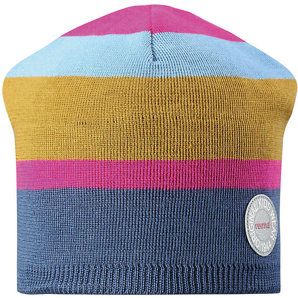 Шапка Reima NebulaГоловные уборы<br>Характеристики товара:<br><br>• цвет: синий/розовый;<br>• состав: 50% шерсть, 50% полиакрил;<br>• сезон: зима;<br>• температурный режим: от +5 до -10С;<br>• шерсть идеально поддерживает температуру;<br>• мягкая и теплая ткань из смеси шерсти;<br>• ветронепроницаемые вставки в области ушей;<br>• частичная подкладка;<br>• логотип Reima® спереди;<br>• страна бренда: Финляндия;<br>• страна изготовитель: Китай.<br><br>Детская шапка из теплого шерстяного трикотажа. Материал превосходно регулирует температуру и хорошо согревает голову. Ветронепроницаемые вставки и полуподкладка из мягкого и дышащего вязаного хлопка. Сплошная жаккардовая узорная вязка. Теплый, удобный, эластичный материал.<br><br>Шапку Nebula Reima от финского бренда Reima (Рейма) можно купить в нашем интернет-магазине.<br><br>Ширина мм: 89<br>Глубина мм: 117<br>Высота мм: 44<br>Вес г: 155<br>Цвет: розовый<br>Возраст от месяцев: 36<br>Возраст до месяцев: 48<br>Пол: Унисекс<br>Возраст: Детский<br>Размер: 56,54,52,50<br>SKU: 6902500
