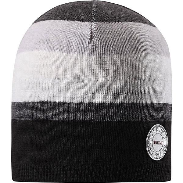 Шапка Reima NebulaГоловные уборы<br>Характеристики товара:<br><br>• цвет: черный/серый;<br>• состав: 50% шерсть, 50% полиакрил;<br>• сезон: зима;<br>• температурный режим: от +5 до -10С;<br>• шерсть идеально поддерживает температуру;<br>• мягкая и теплая ткань из смеси шерсти;<br>• ветронепроницаемые вставки в области ушей;<br>• частичная подкладка;<br>• логотип Reima® спереди;<br>• страна бренда: Финляндия;<br>• страна изготовитель: Китай.<br><br>Детская шапка из теплого шерстяного трикотажа. Материал превосходно регулирует температуру и хорошо согревает голову. Ветронепроницаемые вставки и полуподкладка из мягкого и дышащего вязаного хлопка. Сплошная жаккардовая узорная вязка. Теплый, удобный, эластичный материал.<br><br>Шапку Nebula Reima от финского бренда Reima (Рейма) можно купить в нашем интернет-магазине.<br><br>Ширина мм: 89<br>Глубина мм: 117<br>Высота мм: 44<br>Вес г: 155<br>Цвет: серый<br>Возраст от месяцев: 36<br>Возраст до месяцев: 48<br>Пол: Мужской<br>Возраст: Детский<br>Размер: 50,56,54,52<br>SKU: 6902515