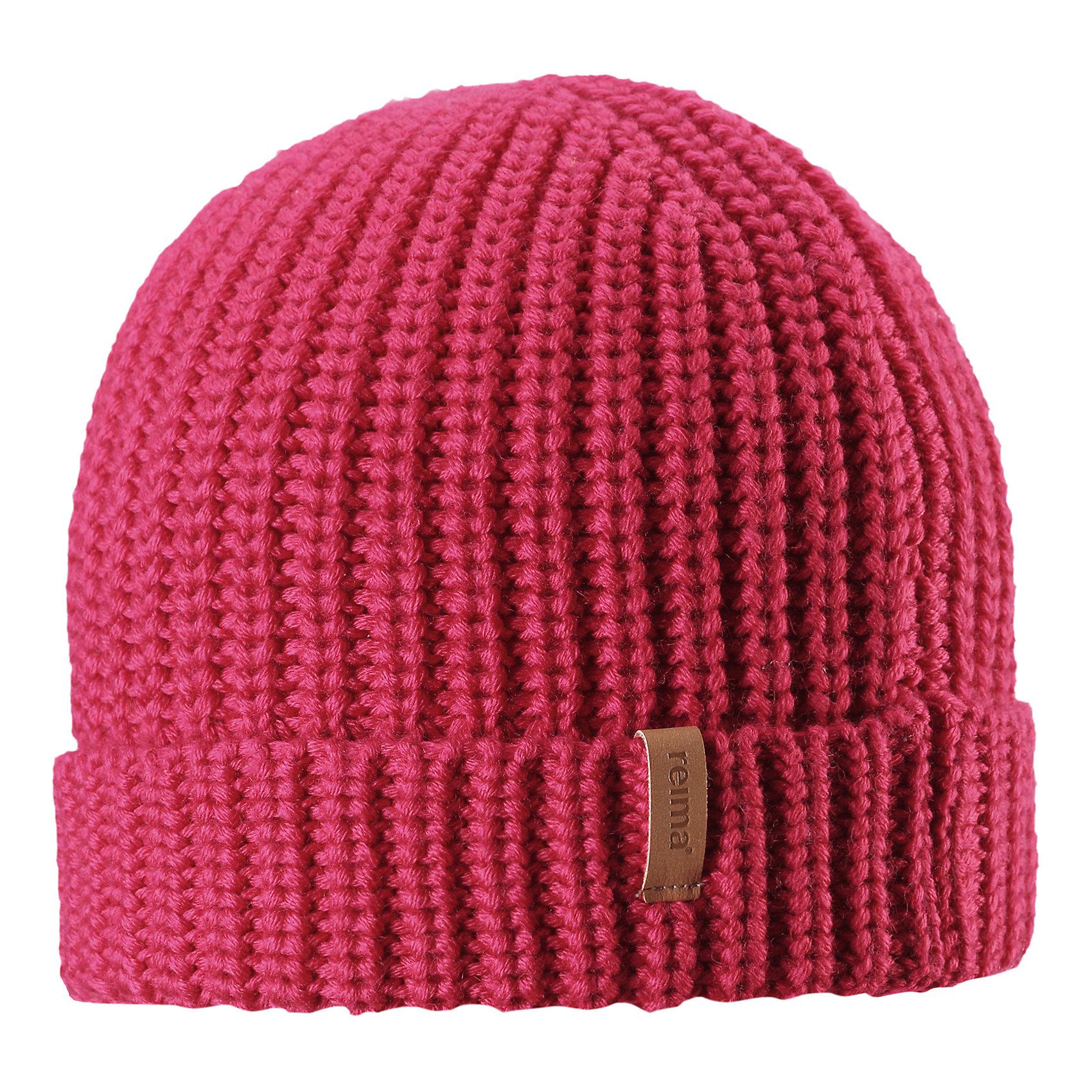Шапка Vanttuu ReimaГоловные уборы<br>Детская шапка из теплого полушерстяного трикотажа. Шерсть – превосходный терморегулятор. Облегченная модель без подкладки. Оригинальный структурный узор дополняет образ.<br>Состав:<br>50% Шерсть, 50% Полиакрил<br><br>Ширина мм: 89<br>Глубина мм: 117<br>Высота мм: 44<br>Вес г: 155<br>Цвет: розовый<br>Возраст от месяцев: 72<br>Возраст до месяцев: 84<br>Пол: Унисекс<br>Возраст: Детский<br>Размер: 54-56,50-52<br>SKU: 6902529