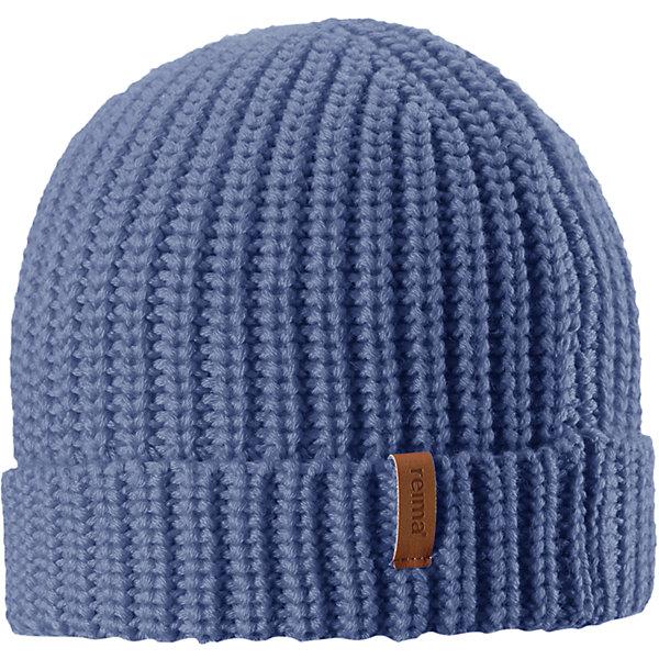 Шапка Reima Vanttuu для мальчикаШапки и шарфы<br>Характеристики товара:<br><br>• цвет: синий;<br>• состав: 50% шерсть, 50% полиакрил;<br>• сезон: демисезон;<br>• температурный режим: от +10 до 0С;<br>• шерсть идеально поддерживает температуру;<br>• мягкая и теплая ткань из смеси шерсти;<br>• легкий стиль, без подкладки;<br>• логотип Reima® спереди;<br>• страна бренда: Финляндия;<br>• страна изготовитель: Китай.<br><br>Детская шапка из теплого полушерстяного трикотажа. Шерсть – превосходный терморегулятор. Облегченная модель без подкладки. Оригинальный структурный узор дополняет образ.<br><br>Шапку Vanttuu Reima от финского бренда Reima (Рейма) можно купить в нашем интернет-магазине.<br>Ширина мм: 89; Глубина мм: 117; Высота мм: 44; Вес г: 155; Цвет: синий; Возраст от месяцев: 36; Возраст до месяцев: 48; Пол: Мужской; Возраст: Детский; Размер: 50-52,54-56; SKU: 6902532;