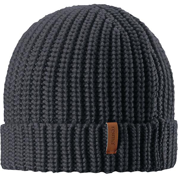 Шапка Reima VanttuuШапки и шарфы<br>Характеристики товара:<br><br>• цвет: темно-синий;<br>• состав: 50% шерсть, 50% полиакрил;<br>• сезон: демисезон;<br>• температурный режим: от +10 до 0С;<br>• шерсть идеально поддерживает температуру;<br>• мягкая и теплая ткань из смеси шерсти;<br>• легкий стиль, без подкладки;<br>• логотип Reima® спереди;<br>• страна бренда: Финляндия;<br>• страна изготовитель: Китай.<br><br>Детская шапка из теплого полушерстяного трикотажа. Шерсть – превосходный терморегулятор. Облегченная модель без подкладки. Оригинальный структурный узор дополняет образ.<br><br>Шапку Vanttuu Reima от финского бренда Reima (Рейма) можно купить в нашем интернет-магазине.<br><br>Ширина мм: 89<br>Глубина мм: 117<br>Высота мм: 44<br>Вес г: 155<br>Цвет: серый<br>Возраст от месяцев: 36<br>Возраст до месяцев: 48<br>Пол: Унисекс<br>Возраст: Детский<br>Размер: 50-52,54-56<br>SKU: 6902535