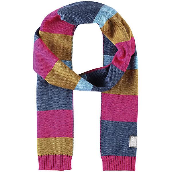 Шарф Reima Nyland для девочкиШарфы, платки<br>Характеристики товара:<br><br>• цвет: розовый/синий;<br>• состав: 50% шерсть, 50% полиакрил;<br>• сезон: зима;<br>• температурный режим: от 0С;<br>• шерсть идеально поддерживает температуру;<br>• мягкая и теплая ткань из смеси шерсти;<br>• логотип Reima® спереди;<br>• страна бренда: Финляндия;<br>• страна изготовитель: Китай.<br><br>Детский зимний шарф изготовлен из мягкого и теплого шерстяного трикотажа. Эластичный и дышащий материал обеспечивает хорошую терморегуляцию. Снабжен светоотражающей эмблемой Reima.<br><br>Шарф Nyland Reima от финского бренда Reima (Рейма) можно купить в нашем интернет-магазине.<br>Ширина мм: 88; Глубина мм: 155; Высота мм: 26; Вес г: 106; Цвет: розовый; Возраст от месяцев: 48; Возраст до месяцев: 168; Пол: Женский; Возраст: Детский; Размер: one size; SKU: 6902547;