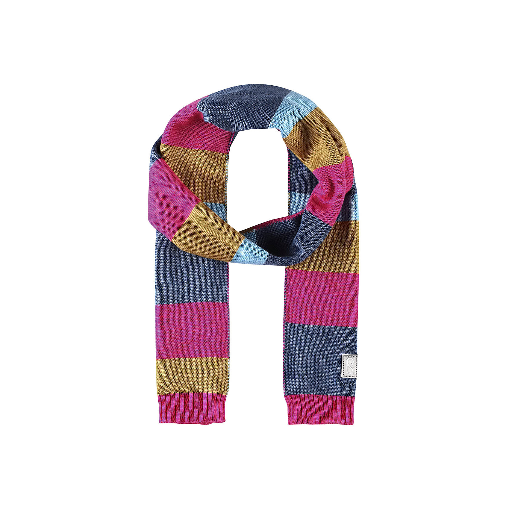 Шарф Nyland ReimaШарфы, платки<br>Детский зимний шарф изготовлен из мягкого и теплого шерстяного трикотажа. Эластичный и дышащий материал обеспечивает хорошую терморегуляцию. Снабжен светоотражающей эмблемой Reima.<br>Состав:<br>50% Шерсть, 50% Полиакрил<br><br>Ширина мм: 88<br>Глубина мм: 155<br>Высота мм: 26<br>Вес г: 106<br>Цвет: розовый<br>Возраст от месяцев: 48<br>Возраст до месяцев: 168<br>Пол: Унисекс<br>Возраст: Детский<br>Размер: one size<br>SKU: 6902547