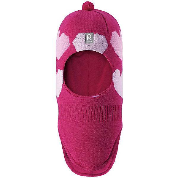 Шапка-шлем Reima Louhii для девочкиШапки и шарфы<br>Характеристики товара:<br><br>• цвет: розовый;<br>• состав: 100% шерсть;<br>• подкладка: 97% хлопок, 3% эластан;<br>• утеплитель: 40 г/м2;<br>• сезон: зима;<br>• температурный режим: от 0 до -20С;<br>• мягкая ткань из мериносовой шерсти для поддержания идеальной температуры тела;<br>• ветронепроницаемые вставки в области ушей;<br>• сплошная подкладка: хлопковый трикотаж с эластаном;<br>• шапка-шлем с помпоном сверху;<br>• логотип Reima® спереди;<br>• страна бренда: Финляндия;<br>• страна изготовитель: Китай.<br><br>Мягкая и удобная шапка-шлем для малышей превосходно согреет в зимний день. Она сделана из мягкой мериносовой шерсти, которая превосходно регулирует температуру. Снабжена полной подкладкой из удобного джерси из смеси хлопка и эластана, легким утеплителем и ветронепроницаемыми вставками в области ушей. Сплошная жаккардовая узорная вязка. Помпон на макушке довершает стильный образ!<br><br>Шапку-шлем Reima Louhii для девочки от финского бренда Reima (Рейма) можно купить в нашем интернет-магазине.<br>Ширина мм: 89; Глубина мм: 117; Высота мм: 44; Вес г: 155; Цвет: розовый; Возраст от месяцев: 72; Возраст до месяцев: 84; Пол: Женский; Возраст: Детский; Размер: 54,50,52; SKU: 6902623;