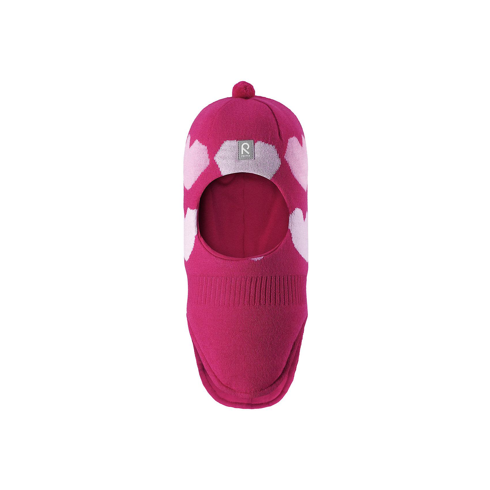 Шапка-шлем Reima Louhii для девочкиГоловные уборы<br>Характеристики товара:<br><br>• цвет: розовый;<br>• состав: 100% шерсть;<br>• подкладка: 97% хлопок, 3% эластан;<br>• утеплитель: 40 г/м2;<br>• сезон: зима;<br>• температурный режим: от 0 до -20С;<br>• мягкая ткань из мериносовой шерсти для поддержания идеальной температуры тела;<br>• ветронепроницаемые вставки в области ушей;<br>• сплошная подкладка: хлопковый трикотаж с эластаном;<br>• шапка-шлем с помпоном сверху;<br>• логотип Reima® спереди;<br>• страна бренда: Финляндия;<br>• страна изготовитель: Китай.<br><br>Мягкая и удобная шапка-шлем для малышей превосходно согреет в зимний день. Она сделана из мягкой мериносовой шерсти, которая превосходно регулирует температуру. Снабжена полной подкладкой из удобного джерси из смеси хлопка и эластана, легким утеплителем и ветронепроницаемыми вставками в области ушей. Сплошная жаккардовая узорная вязка. Помпон на макушке довершает стильный образ!<br><br>Шапку-шлем Reima Louhii для девочки от финского бренда Reima (Рейма) можно купить в нашем интернет-магазине.<br><br>Ширина мм: 89<br>Глубина мм: 117<br>Высота мм: 44<br>Вес г: 155<br>Цвет: розовый<br>Возраст от месяцев: 72<br>Возраст до месяцев: 84<br>Пол: Женский<br>Возраст: Детский<br>Размер: 54,50,52<br>SKU: 6902623