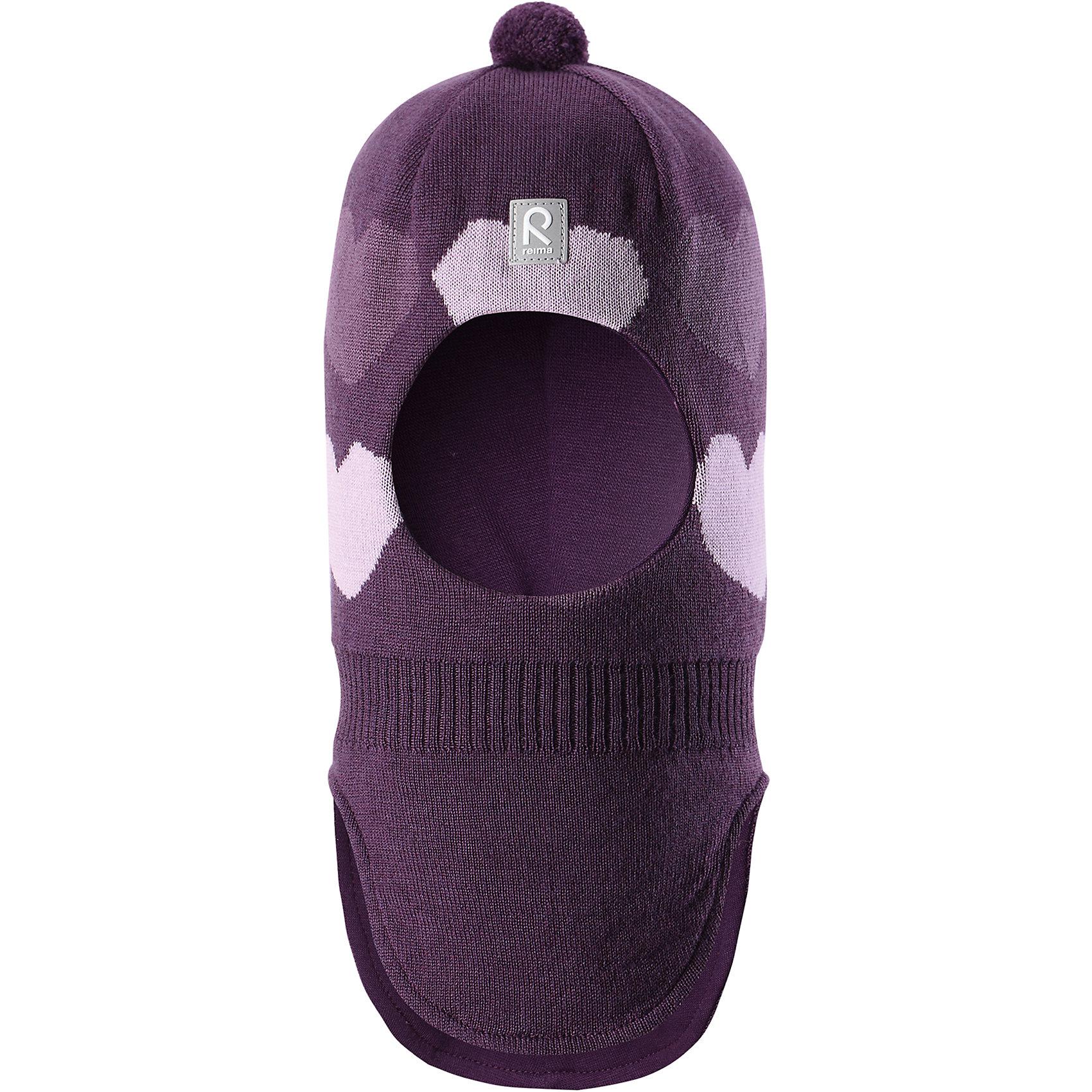 Шапка-шлем Reima Louhii для девочкиШапки и шарфы<br>Характеристики товара:<br><br>• цвет: фиолетовый;<br>• состав: 100% шерсть;<br>• подкладка: 97% хлопок, 3% эластан;<br>• утеплитель: 40 г/м2;<br>• сезон: зима;<br>• температурный режим: от 0 до -20С;<br>• мягкая ткань из мериносовой шерсти для поддержания идеальной температуры тела;<br>• ветронепроницаемые вставки в области ушей;<br>• сплошная подкладка: хлопковый трикотаж с эластаном;<br>• шапка-шлем с помпоном сверху;<br>• логотип Reima® спереди;<br>• страна бренда: Финляндия;<br>• страна изготовитель: Китай.<br><br>Мягкая и удобная шапка-шлем для малышей превосходно согреет в зимний день. Она сделана из мягкой мериносовой шерсти, которая превосходно регулирует температуру. Снабжена полной подкладкой из удобного джерси из смеси хлопка и эластана, легким утеплителем и ветронепроницаемыми вставками в области ушей. Сплошная жаккардовая узорная вязка. Помпон на макушке довершает стильный образ!<br><br>Шапку-шлем Reima Louhii для девочки от финского бренда Reima (Рейма) можно купить в нашем интернет-магазине.<br><br>Ширина мм: 89<br>Глубина мм: 117<br>Высота мм: 44<br>Вес г: 155<br>Цвет: лиловый<br>Возраст от месяцев: 72<br>Возраст до месяцев: 84<br>Пол: Женский<br>Возраст: Детский<br>Размер: 54,50,52<br>SKU: 6902627