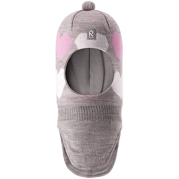 Шапка-шлем Reima Louhii для девочкиШапки и шарфы<br>Характеристики товара:<br><br>• цвет: серый;<br>• состав: 100% шерсть;<br>• подкладка: 97% хлопок, 3% эластан;<br>• утеплитель: 40 г/м2;<br>• сезон: зима;<br>• температурный режим: от 0 до -20С;<br>• мягкая ткань из мериносовой шерсти для поддержания идеальной температуры тела;<br>• ветронепроницаемые вставки в области ушей;<br>• сплошная подкладка: хлопковый трикотаж с эластаном;<br>• шапка-шлем с помпоном сверху;<br>• логотип Reima® спереди;<br>• страна бренда: Финляндия;<br>• страна изготовитель: Китай.<br><br>Мягкая и удобная шапка-шлем для малышей превосходно согреет в зимний день. Она сделана из мягкой мериносовой шерсти, которая превосходно регулирует температуру. Снабжена полной подкладкой из удобного джерси из смеси хлопка и эластана, легким утеплителем и ветронепроницаемыми вставками в области ушей. Сплошная жаккардовая узорная вязка. Помпон на макушке довершает стильный образ!<br><br>Шапку-шлем Reima Louhii для девочки от финского бренда Reima (Рейма) можно купить в нашем интернет-магазине.<br>Ширина мм: 89; Глубина мм: 117; Высота мм: 44; Вес г: 155; Цвет: серый; Возраст от месяцев: 36; Возраст до месяцев: 48; Пол: Женский; Возраст: Детский; Размер: 50,54,52; SKU: 6902631;