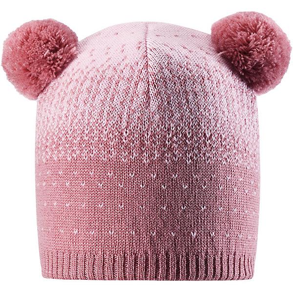 Шапка Reima Saana для девочкиШапки и шарфы<br>Характеристики товара:<br><br>• цвет: розовый;<br>• состав: 100% шерсть;<br>• подкладка: 97% хлопок, 3% эластан;<br>• без дополнительного утепления;<br>• сезон: зима;<br>• температурный режим: от 0 до -20С;<br>• мягкая ткань из мериносовой шерсти для поддержания идеальной температуры тела;<br>• ветронепроницаемые вставки в области ушей;<br>• сплошная подкладка: хлопковый трикотаж с эластаном;<br>• шапка с двумя помпонами;<br>• логотип Reima® сзади;<br>• страна бренда: Финляндия;<br>• страна изготовитель: Китай.<br><br>Шапка для малышей и детей постарше изготовлена из дышащей и теплой мериносовой шерсти. Мягкая подкладка из хлопчатобумажного трикотажа гарантирует тепло, а ветронепроницаемые вставки между верхним слоем и подкладкой защищают уши. Два помпона на макушке и оригинальный структурный узор.<br><br>Шапку Saana для девочки Reima от финского бренда Reima (Рейма) можно купить в нашем интернет-магазине.<br>Ширина мм: 89; Глубина мм: 117; Высота мм: 44; Вес г: 155; Цвет: розовый; Возраст от месяцев: 36; Возраст до месяцев: 48; Пол: Женский; Возраст: Детский; Размер: 50,56,54,52; SKU: 6902651;