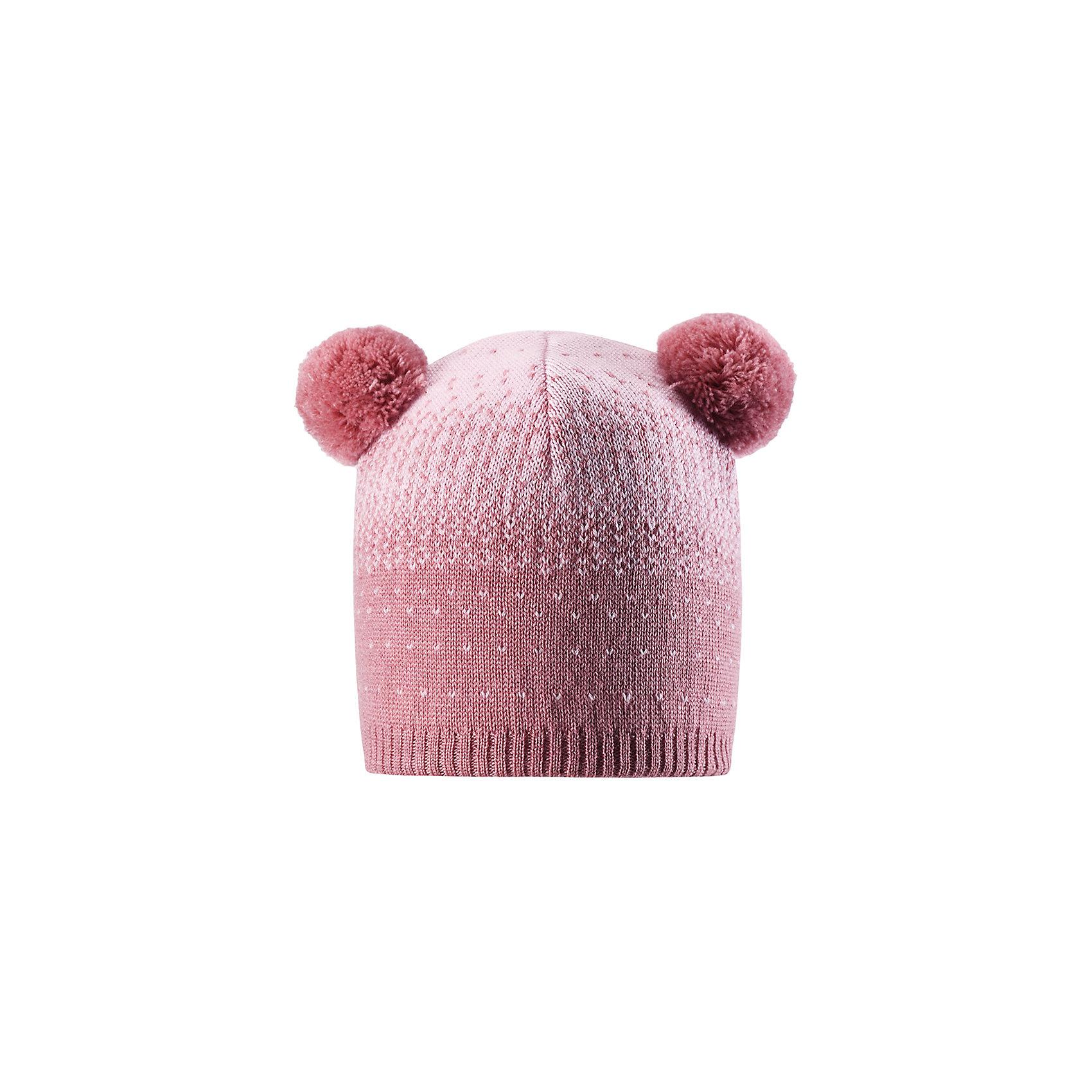 Шапка Reima Saana для девочкиШапки и шарфы<br>Характеристики товара:<br><br>• цвет: розовый;<br>• состав: 100% шерсть;<br>• подкладка: 97% хлопок, 3% эластан;<br>• без дополнительного утепления;<br>• сезон: зима;<br>• температурный режим: от 0 до -20С;<br>• мягкая ткань из мериносовой шерсти для поддержания идеальной температуры тела;<br>• ветронепроницаемые вставки в области ушей;<br>• сплошная подкладка: хлопковый трикотаж с эластаном;<br>• шапка с двумя помпонами;<br>• логотип Reima® сзади;<br>• страна бренда: Финляндия;<br>• страна изготовитель: Китай.<br><br>Шапка для малышей и детей постарше изготовлена из дышащей и теплой мериносовой шерсти. Мягкая подкладка из хлопчатобумажного трикотажа гарантирует тепло, а ветронепроницаемые вставки между верхним слоем и подкладкой защищают уши. Два помпона на макушке и оригинальный структурный узор.<br><br>Шапку Saana для девочки Reima от финского бренда Reima (Рейма) можно купить в нашем интернет-магазине.<br><br>Ширина мм: 89<br>Глубина мм: 117<br>Высота мм: 44<br>Вес г: 155<br>Цвет: розовый<br>Возраст от месяцев: 84<br>Возраст до месяцев: 144<br>Пол: Женский<br>Возраст: Детский<br>Размер: 56,50,52,54<br>SKU: 6902651