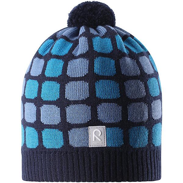 Шапка Reima Kivikko для мальчикаШапки и шарфы<br>Характеристики товара:<br><br>• цвет: синий;<br>• состав: 100% шерсть;<br>• подкладка: 97% хлопок, 3% эластан;<br>• без дополнительного утепления;<br>• сезон: зима;<br>• температурный режим: от 0 до -20С;<br>• мягкая ткань из мериносовой шерсти для поддержания идеальной температуры тела;<br>• ветронепроницаемые вставки в области ушей;<br>• сплошная подкладка: хлопковый трикотаж с эластаном;<br>• шапка с помпоном;<br>• логотип Reima® сзади;<br>• страна бренда: Финляндия;<br>• страна изготовитель: Китай.<br><br>Шапка для малышей и детей постарше изготовлена из дышащей и теплой мериносовой шерсти. Мягкая подкладка из хлопчатобумажного трикотажа гарантирует тепло, а ветронепроницаемые вставки между верхним слоем и подкладкой защищают уши. Помпон на макушке и оригинальный структурный узор.<br><br>Шапку Kivikko для мальчика Reima от финского бренда Reima (Рейма) можно купить в нашем интернет-магазине.<br><br>Ширина мм: 89<br>Глубина мм: 117<br>Высота мм: 44<br>Вес г: 155<br>Цвет: синий<br>Возраст от месяцев: 36<br>Возраст до месяцев: 48<br>Пол: Мужской<br>Возраст: Детский<br>Размер: 50,56,54,52<br>SKU: 6902661